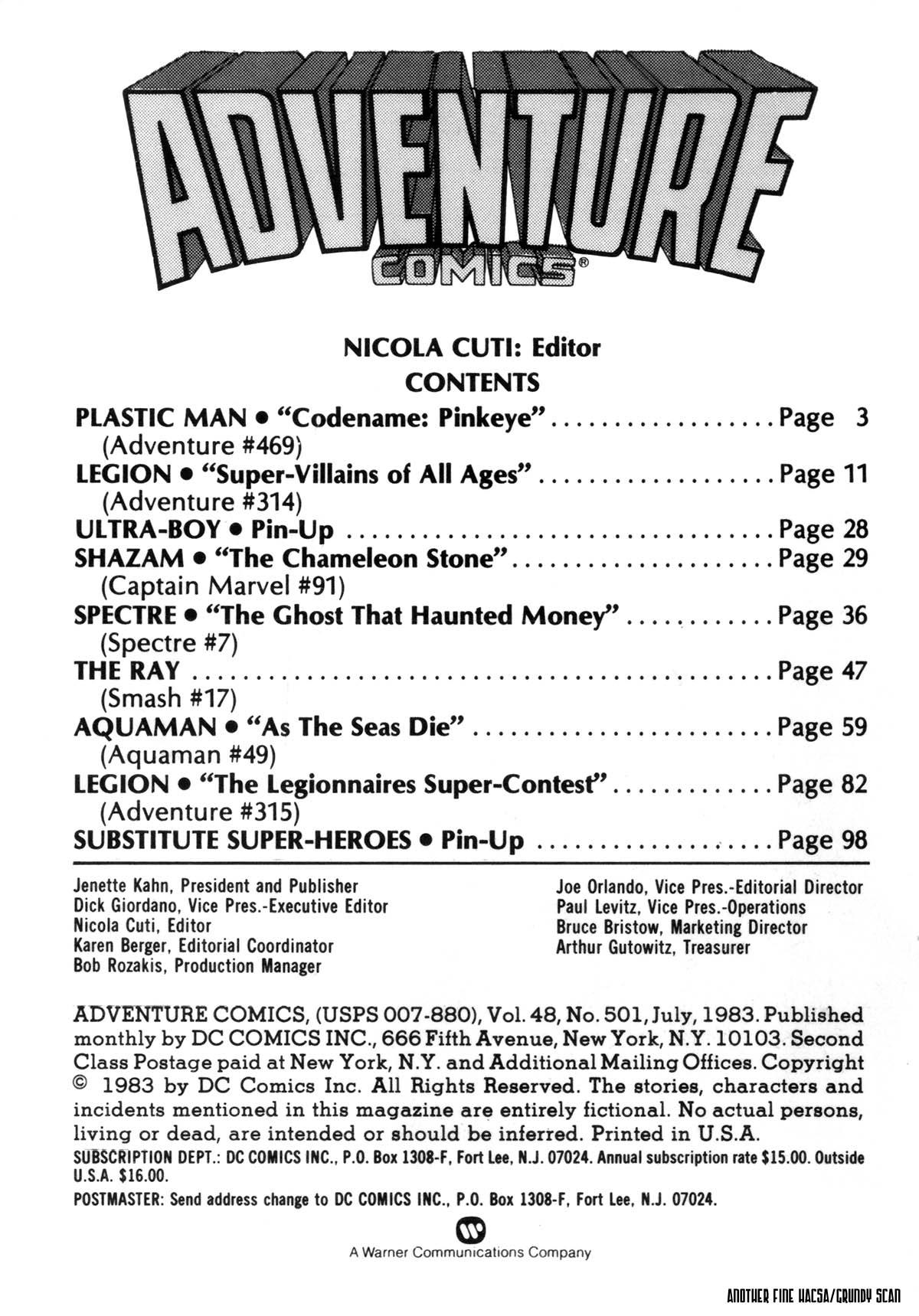 Read online Adventure Comics (1938) comic -  Issue #501 - 2