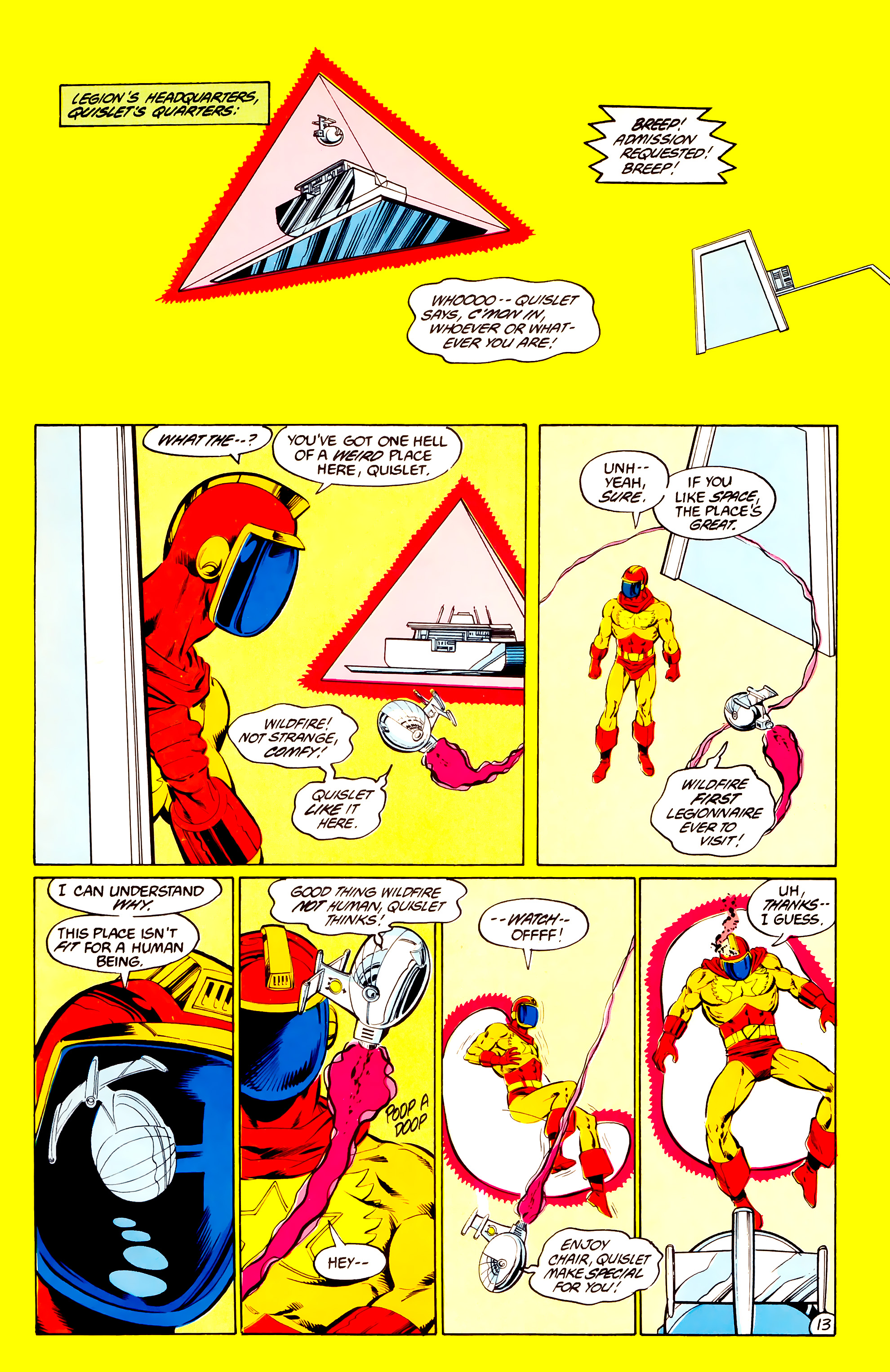 Legion of Super-Heroes (1984) 36 Page 13