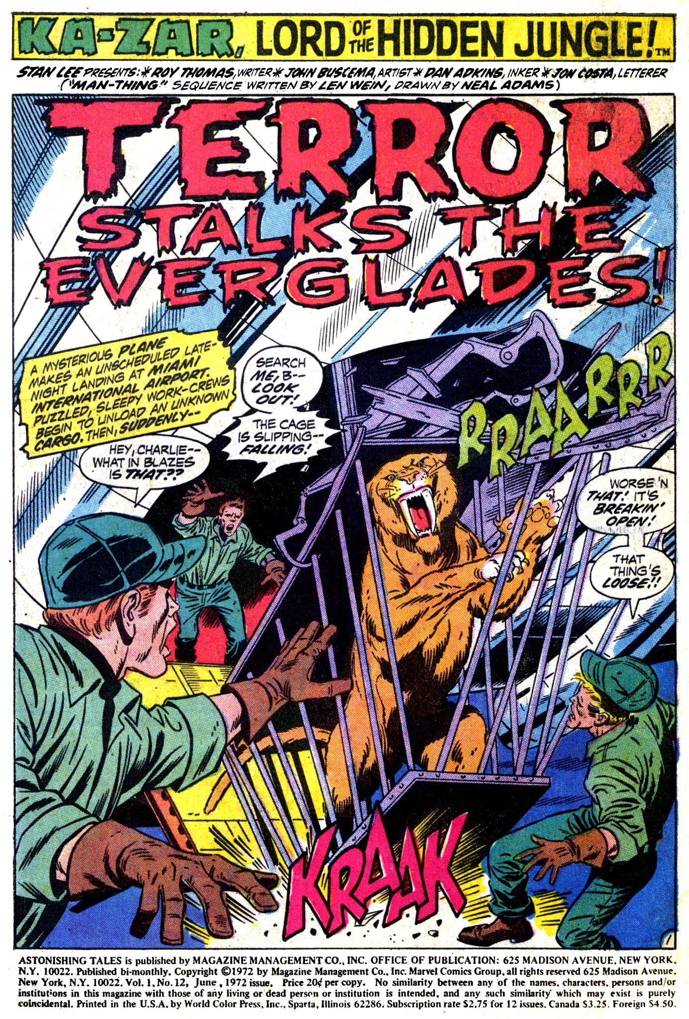 Read online Astonishing Tales (1970) comic -  Issue #12 - 2