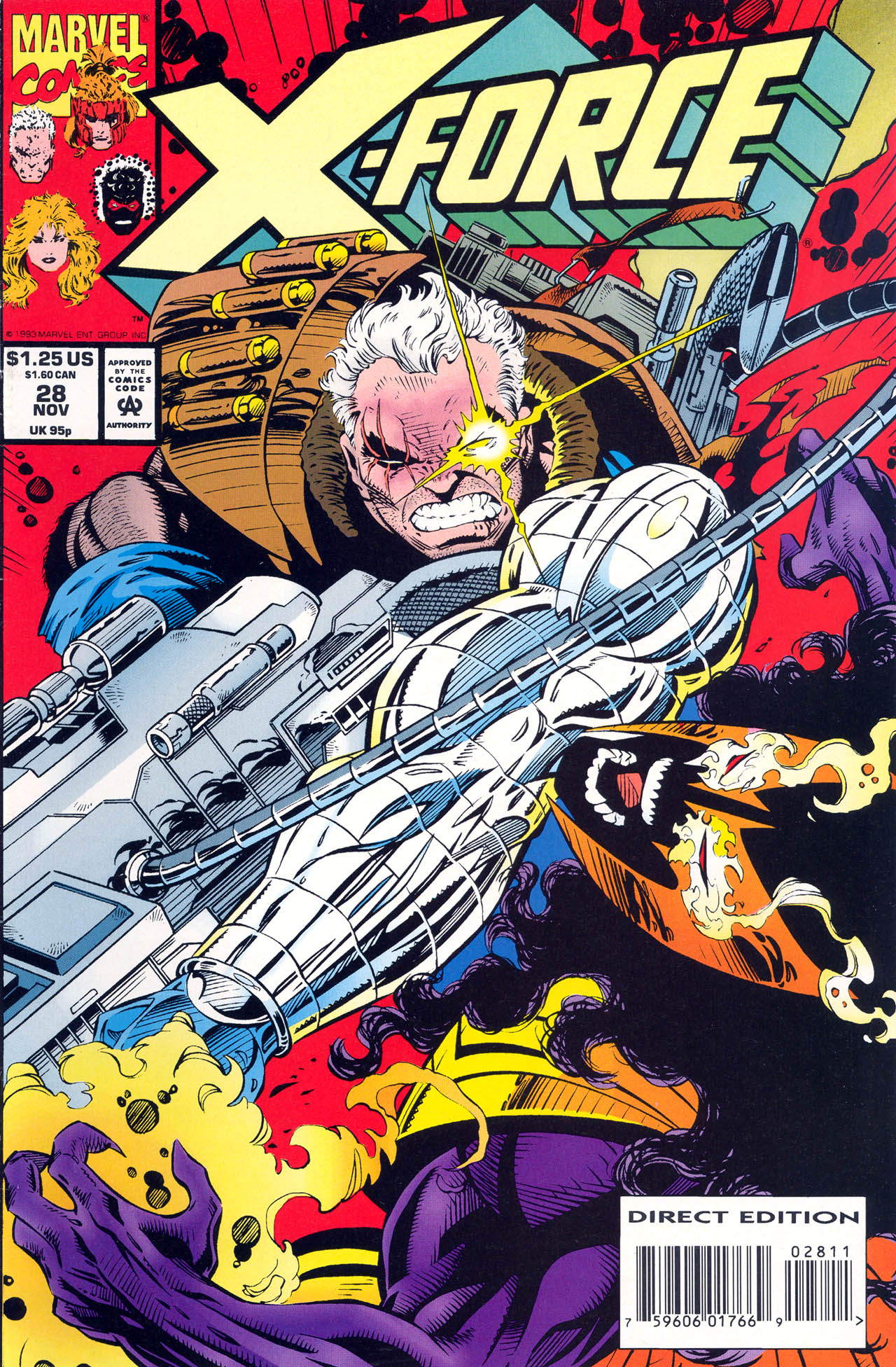 Read online X-Force (1991) comic -  Issue #28 - 1