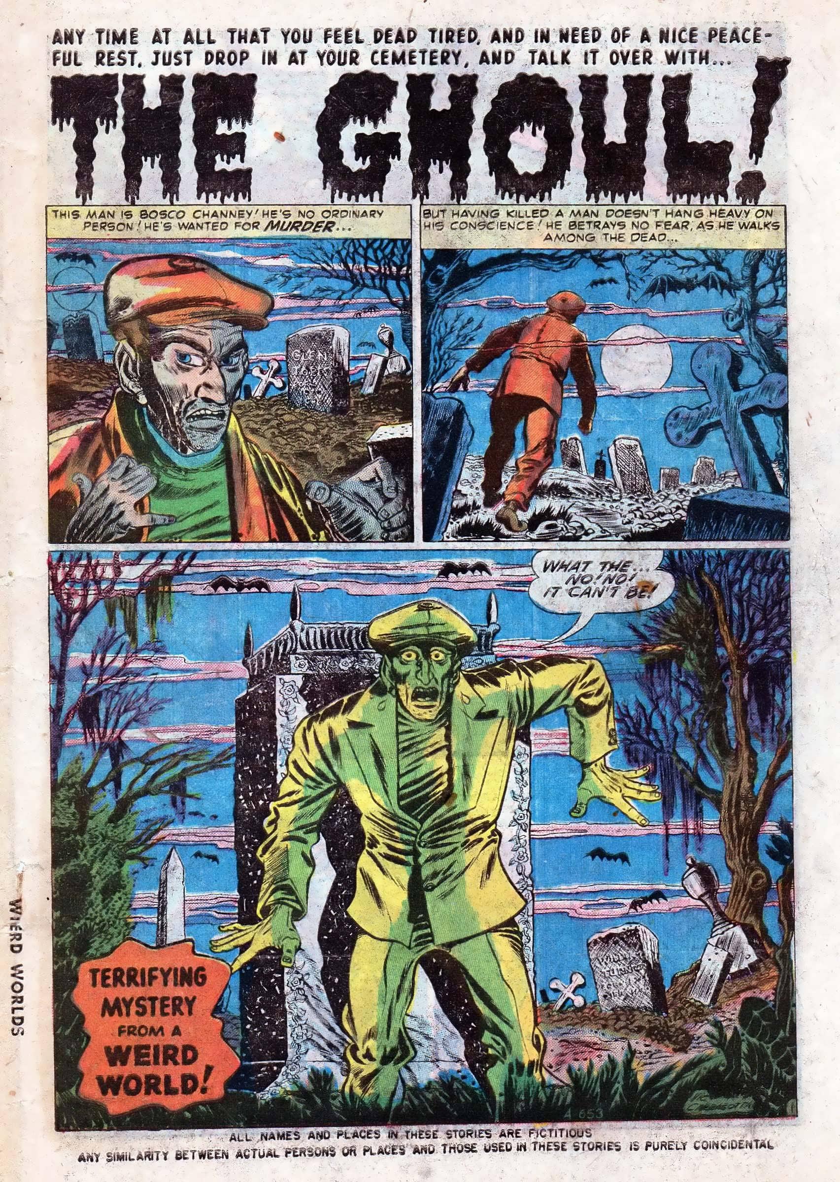 Read online Adventures into Weird Worlds comic -  Issue #10 - 2