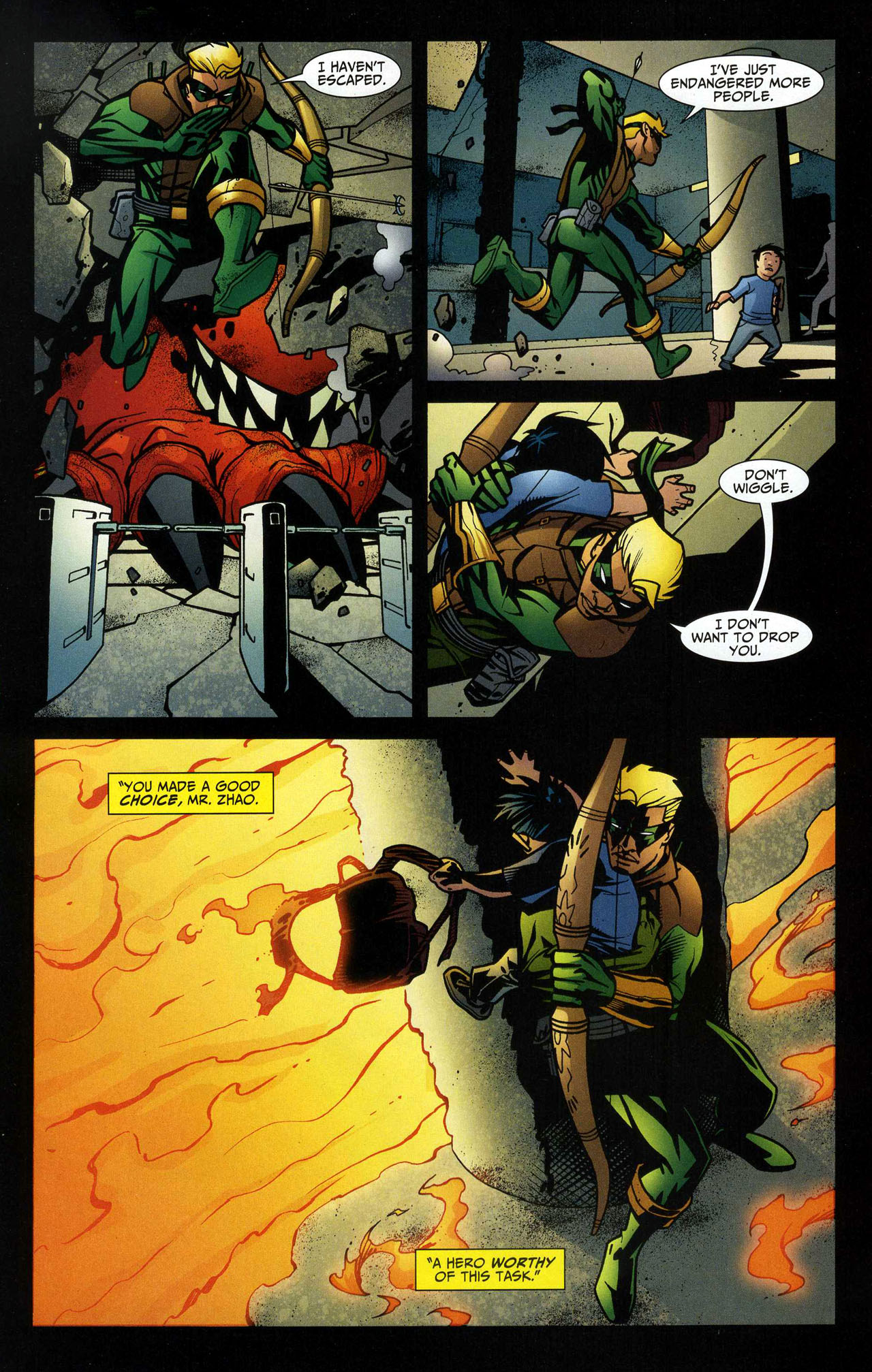 Read online Connor Hawke:  Dragon's Blood comic -  Issue #5 - 10