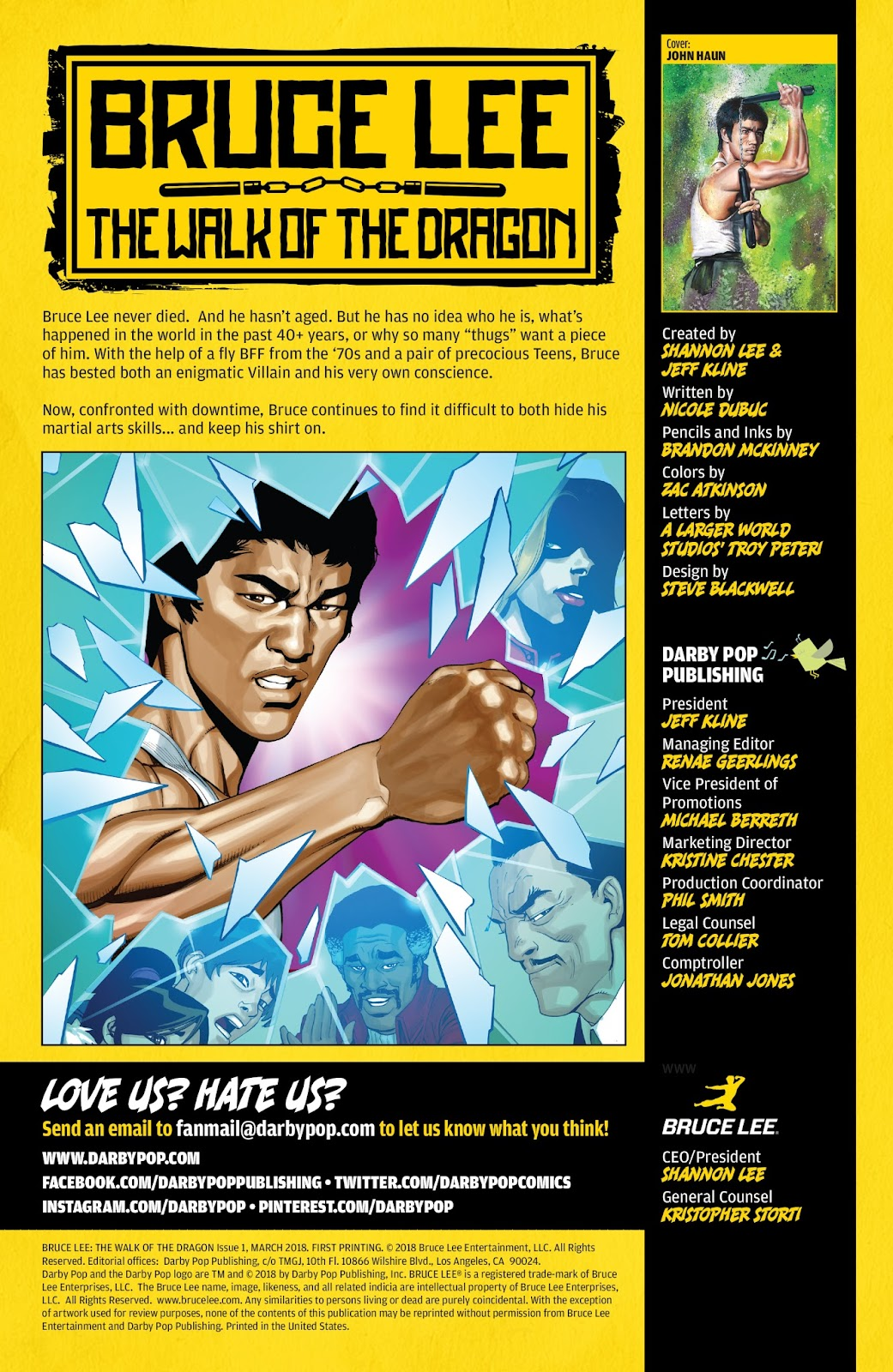 Bruce Lee: Walk of the Dragon issue Full - Page 2