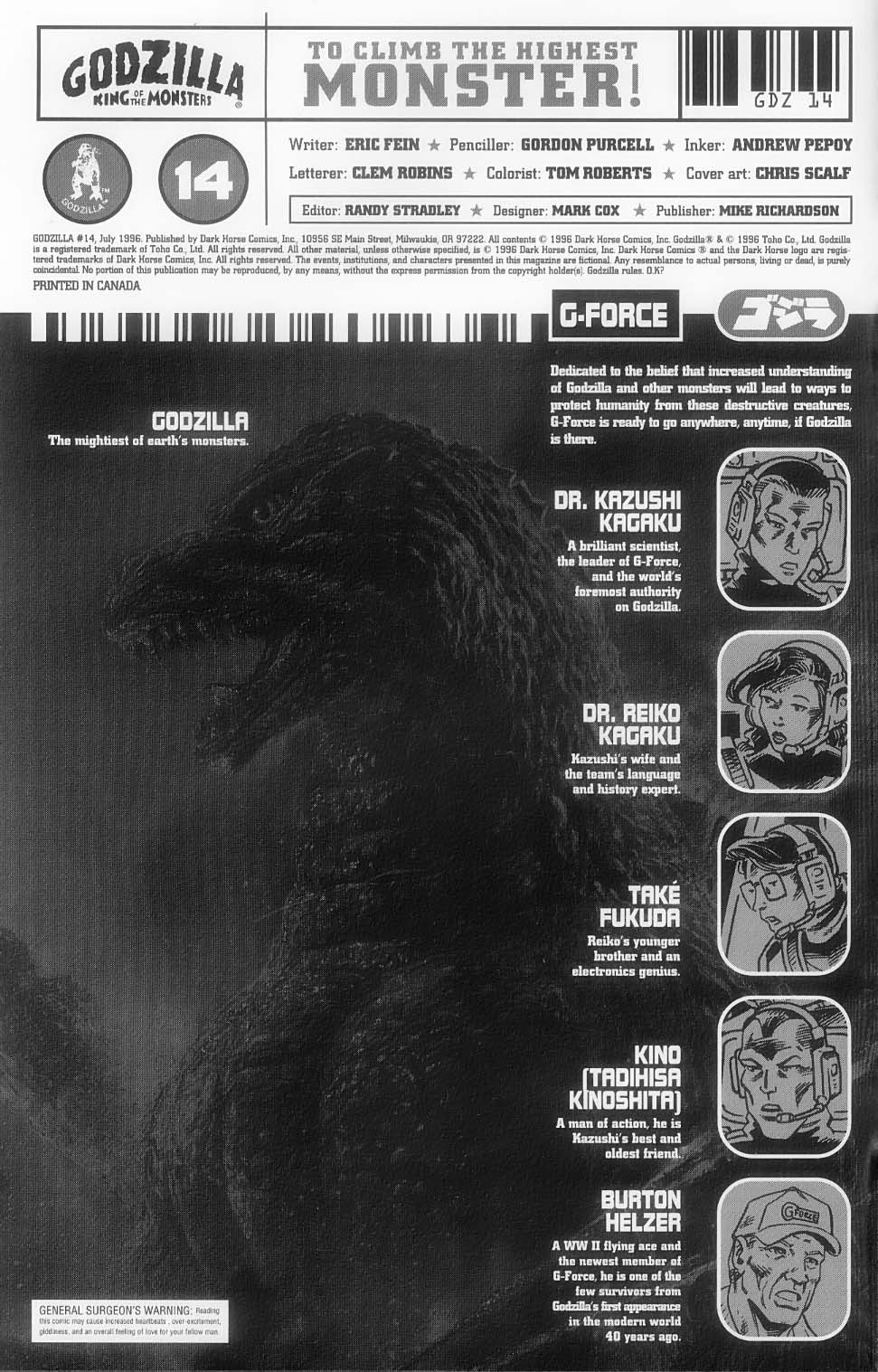 Godzilla (1995) Issue #14 #15 - English 3