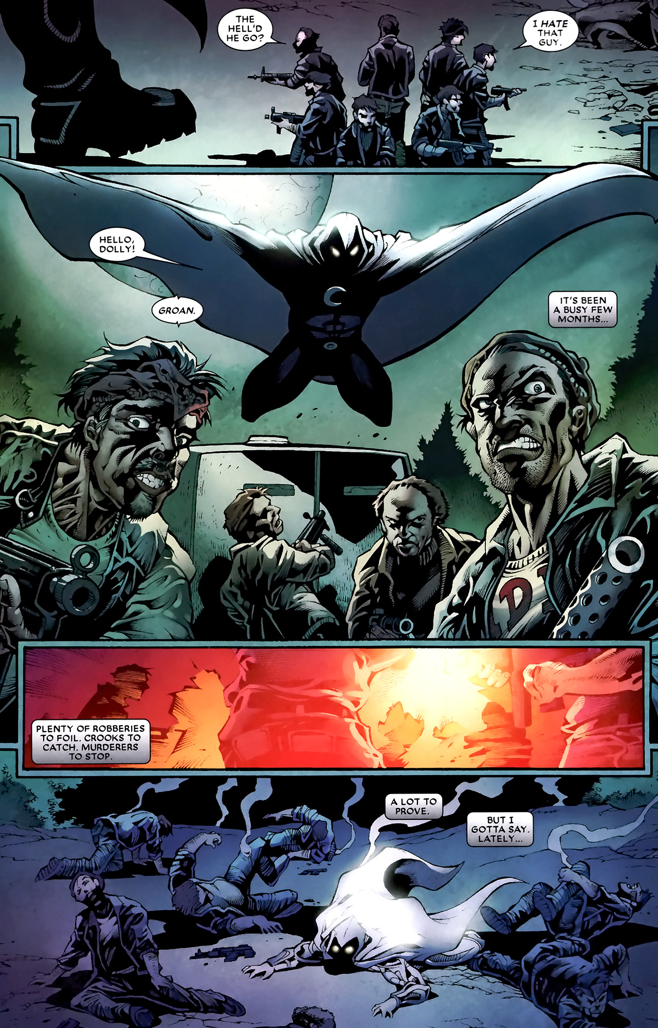 Read online Shadowland: Moon Knight comic -  Issue #1 - 6