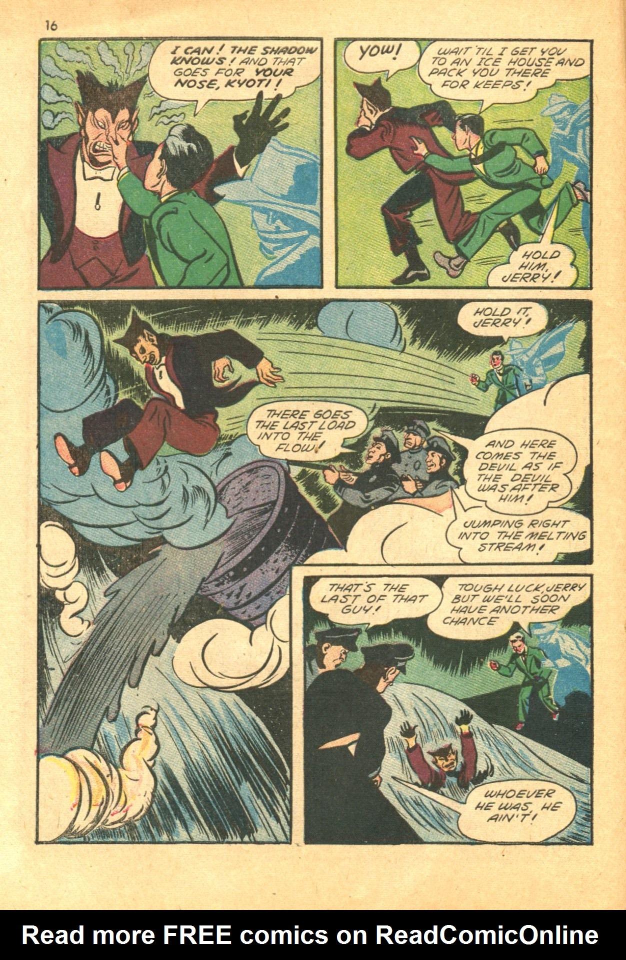 Read online Shadow Comics comic -  Issue #24 - 16