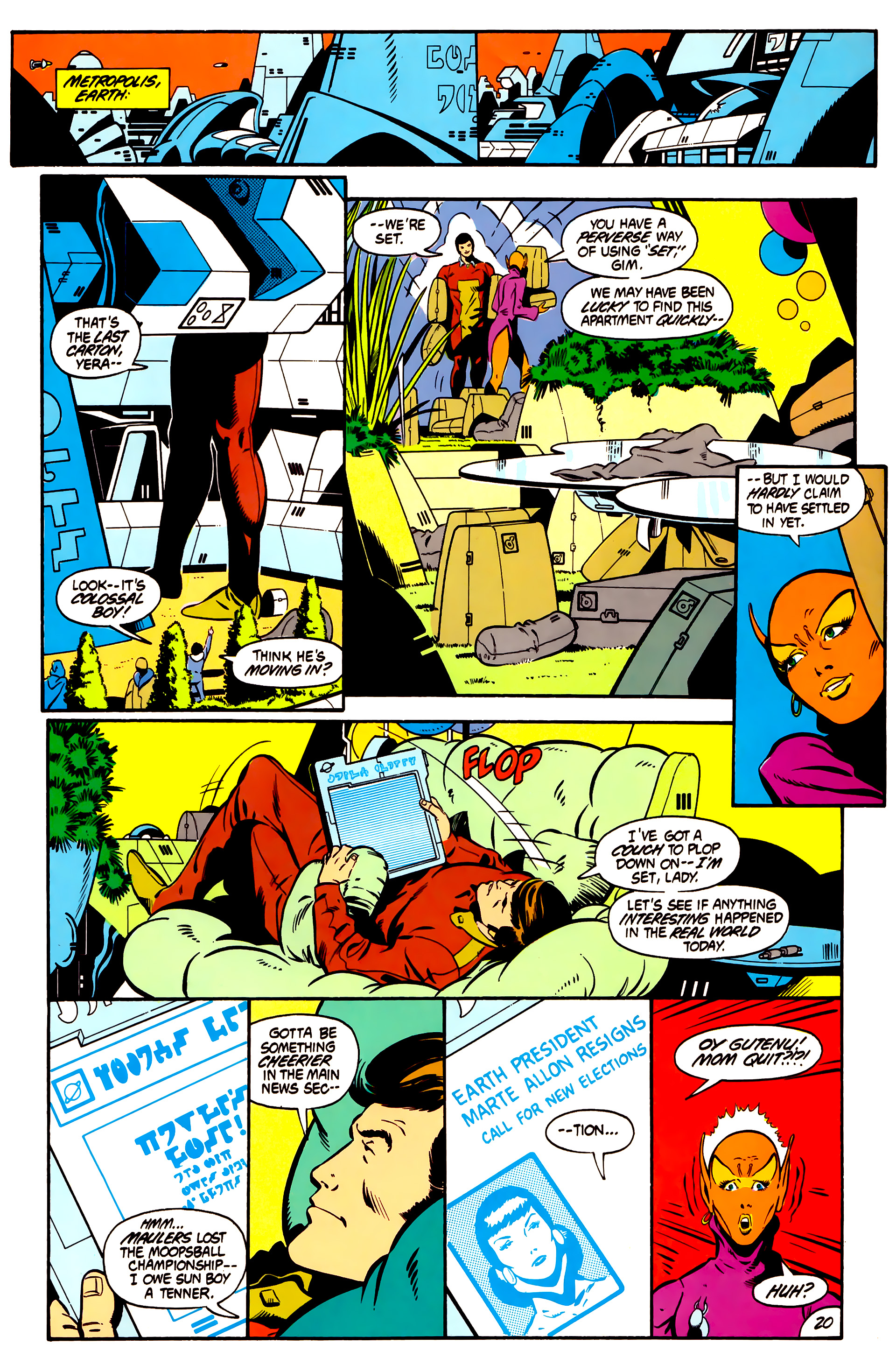 Legion of Super-Heroes (1984) 1 Page 21