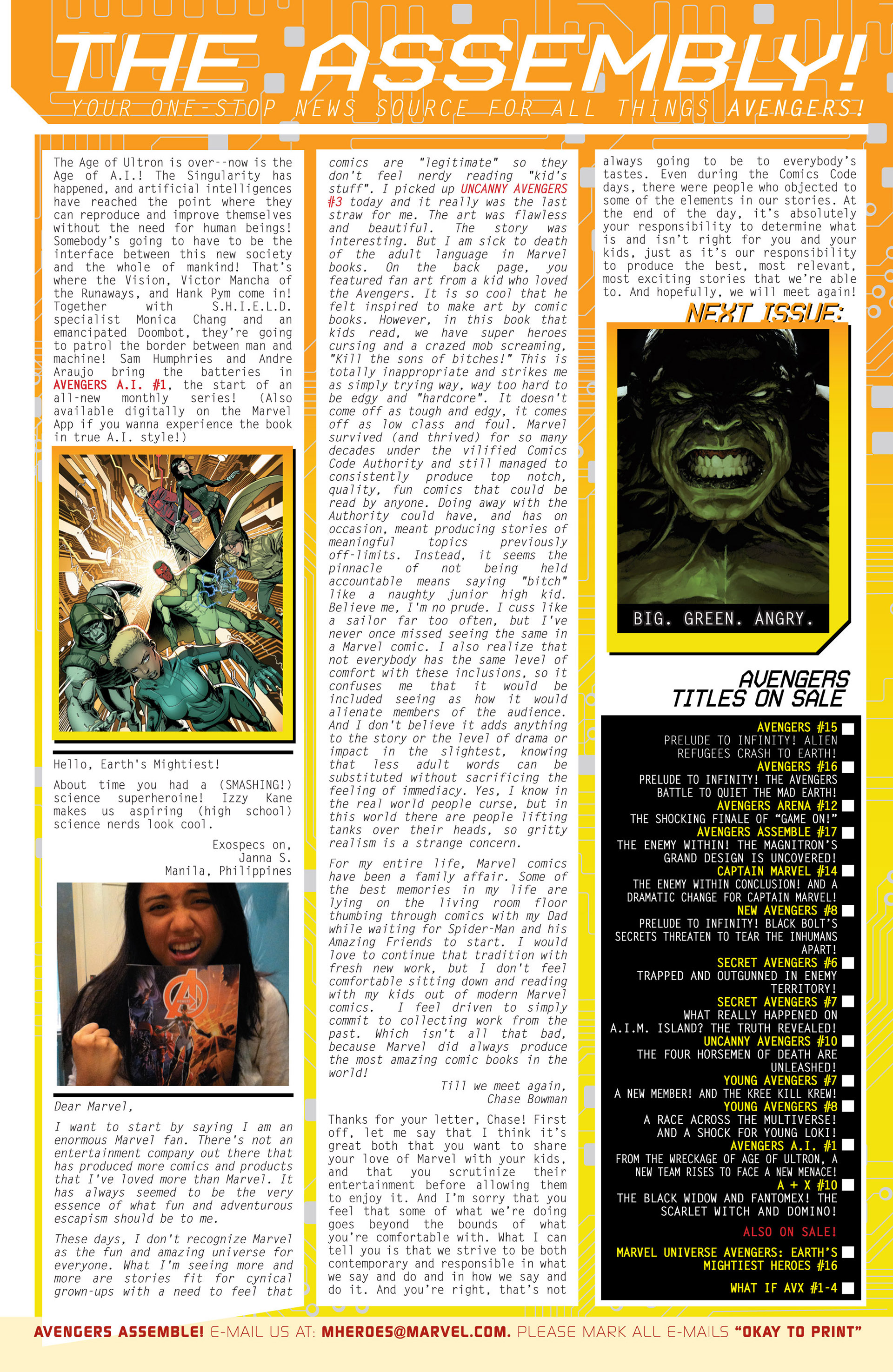 Read online Avengers (2013) comic -  Issue #15 - 25