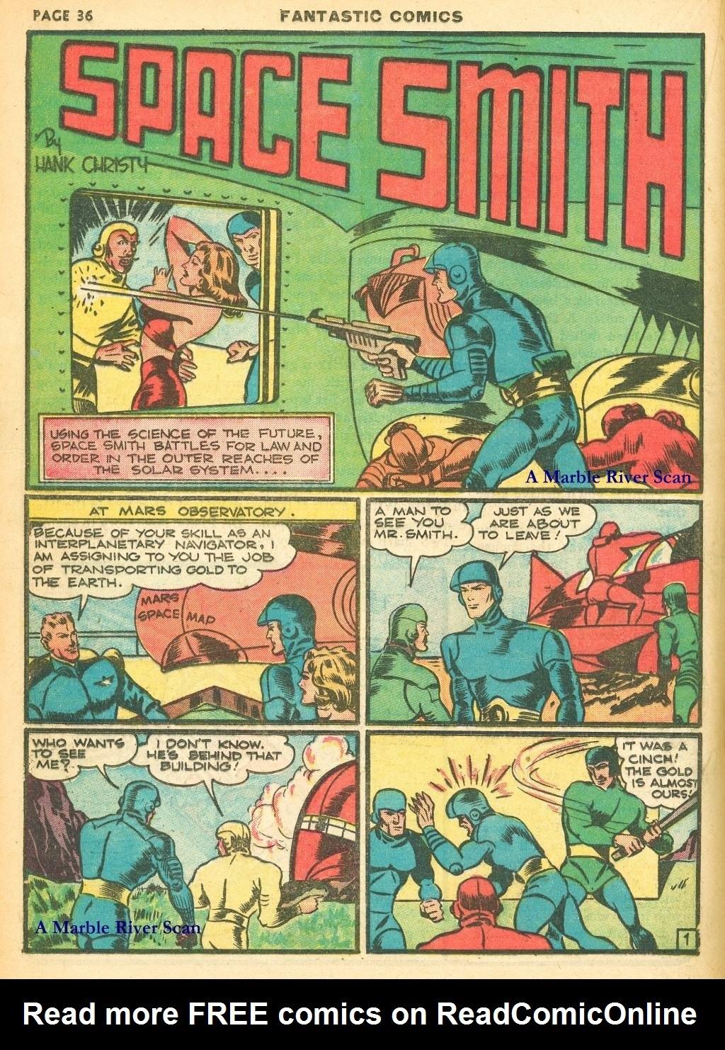 Read online Fantastic Comics comic -  Issue #12 - 38