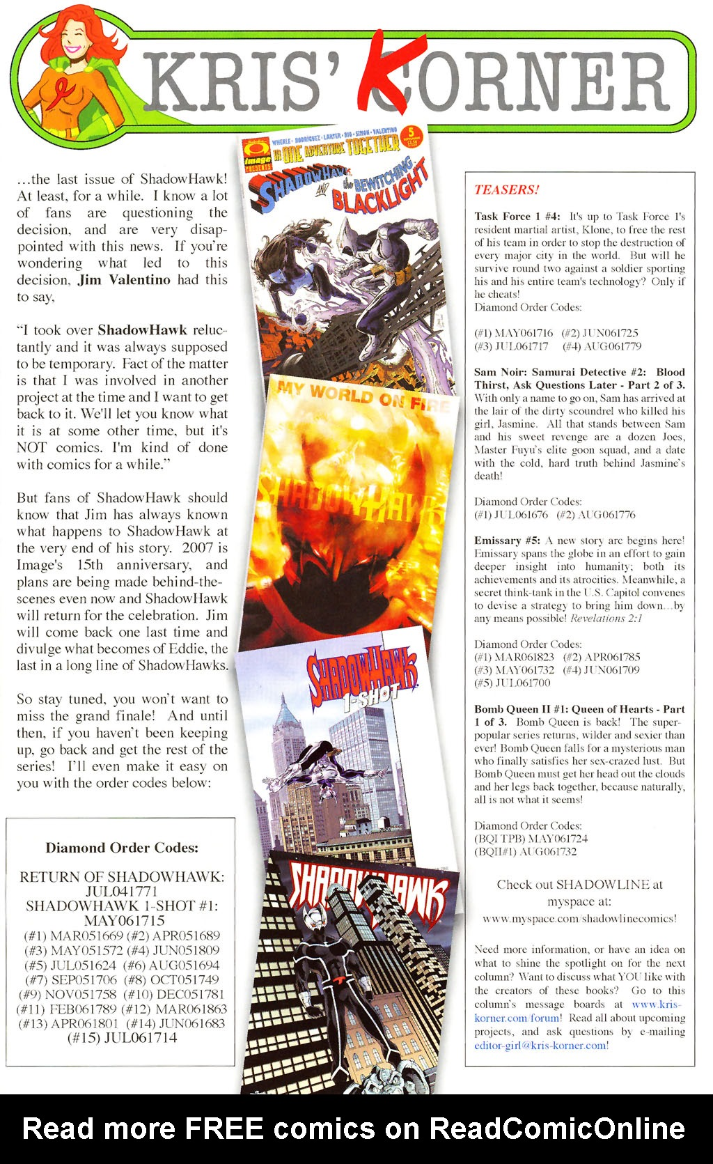 Read online ShadowHawk (2005) comic -  Issue #15 - 26