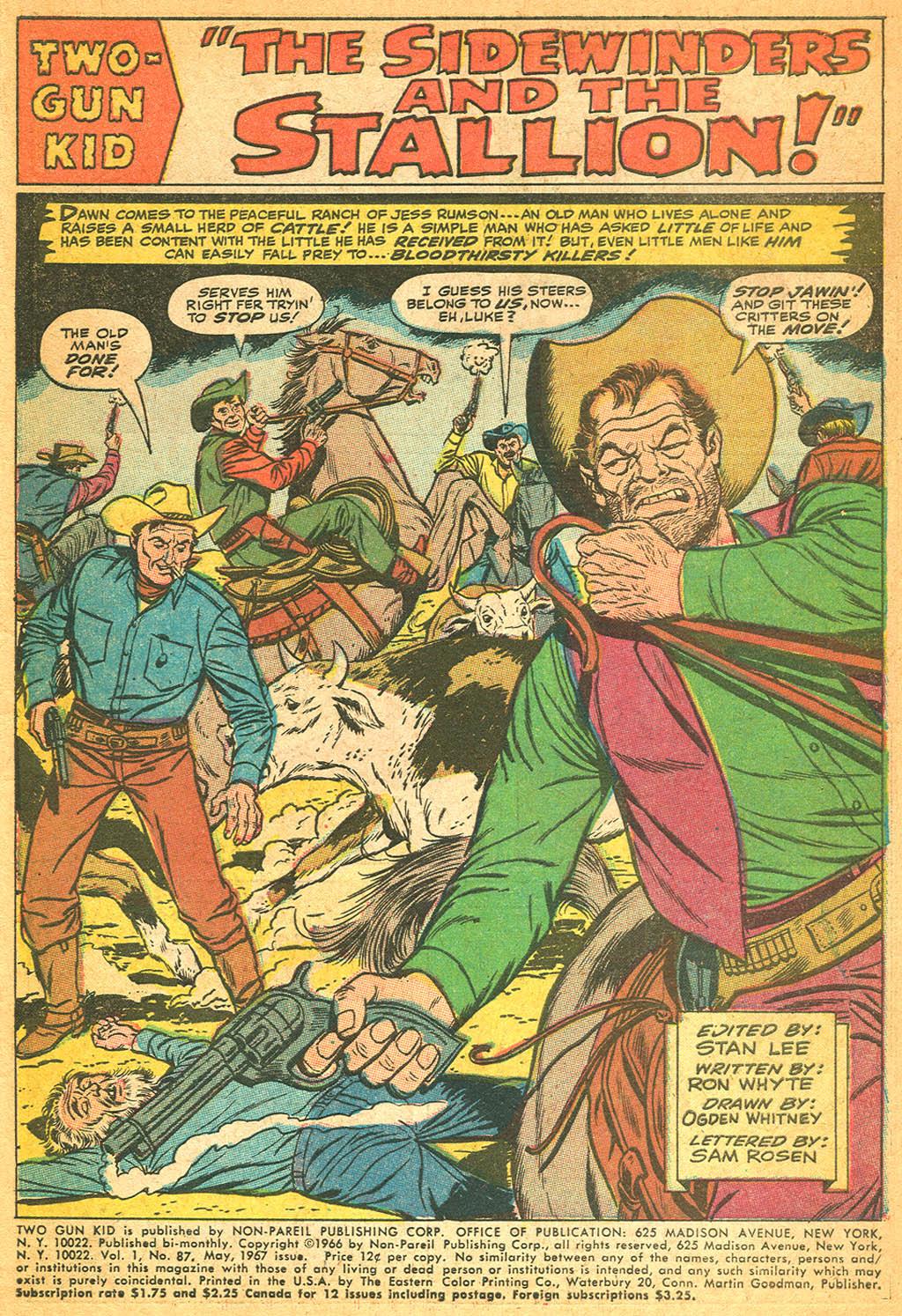 Read online Two-Gun Kid comic -  Issue #87 - 3