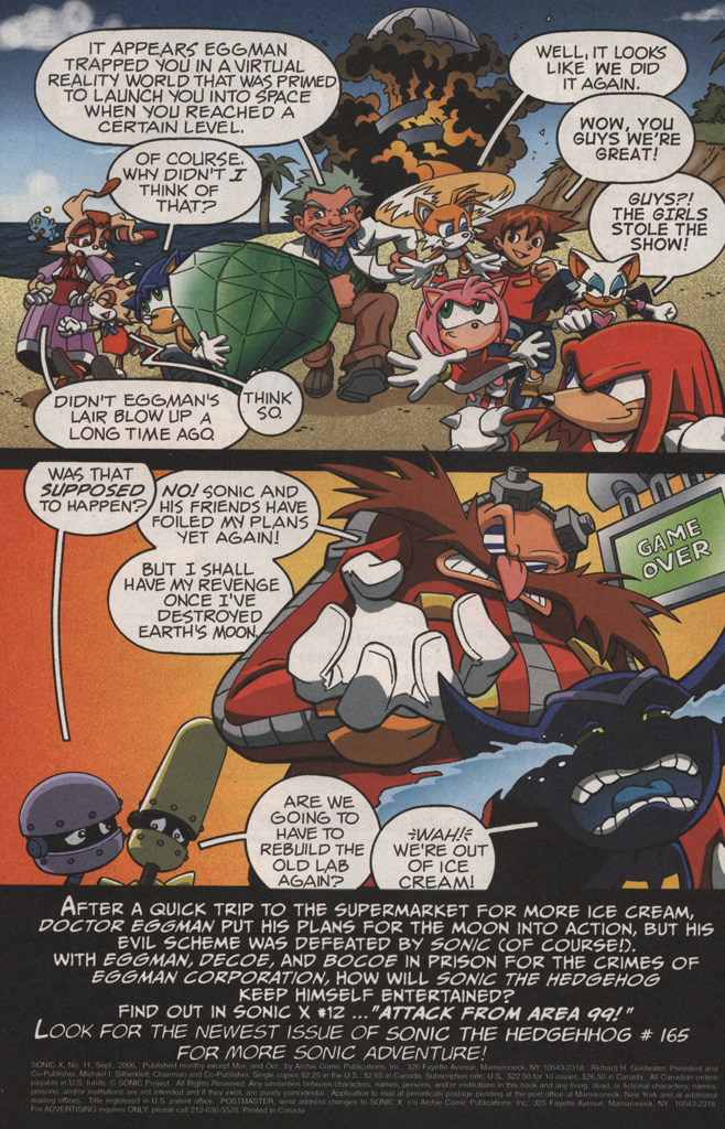 Read online Sonic X comic -  Issue #11 - 34
