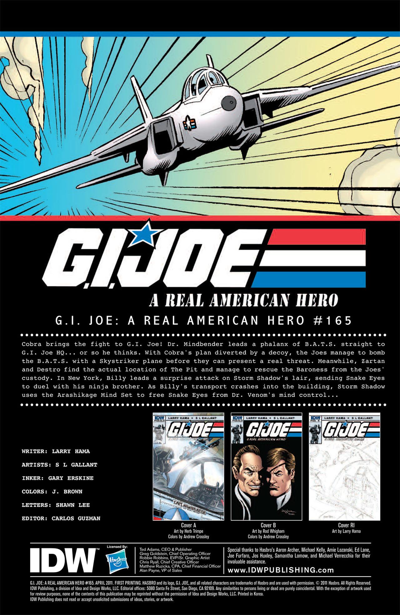 G.I. Joe: A Real American Hero 165 Page 3
