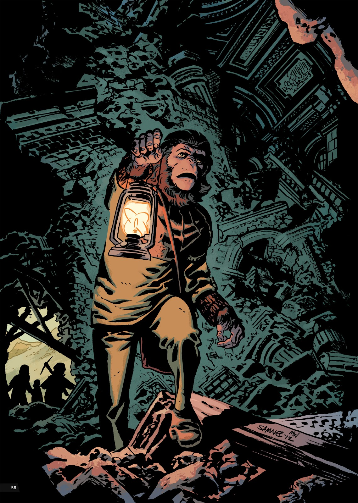 Read online Planet of the Apes Artist Tribute comic -  Issue # TPB - 56