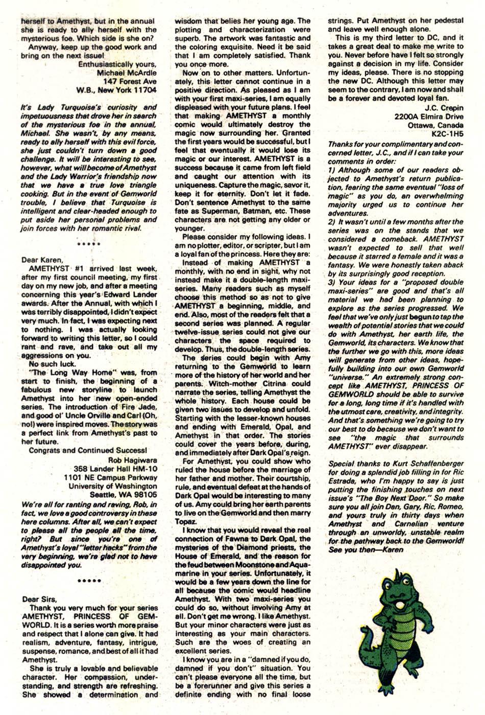 Read online Amethyst (1985) comic -  Issue #4 - 26