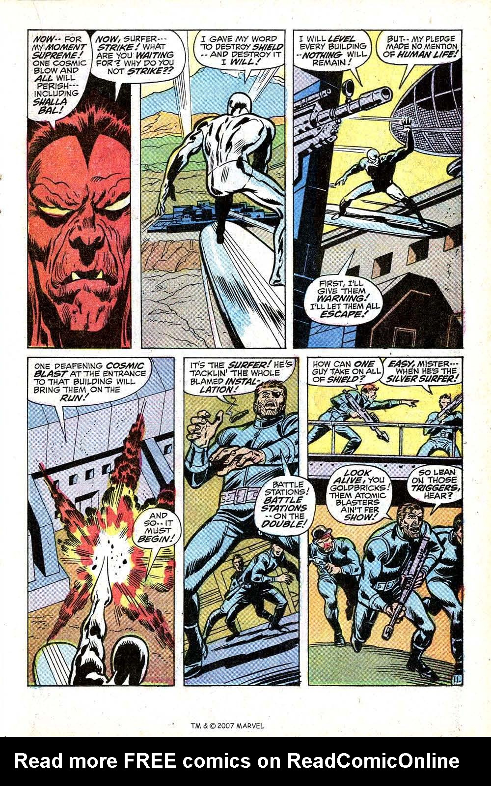 Read online Silver Surfer (1968) comic -  Issue #17 - 17
