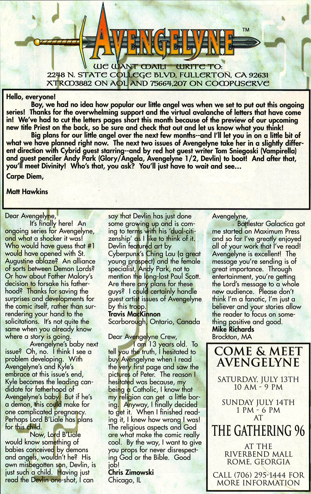 Read online Avengelyne (1996) comic -  Issue #3 - 27
