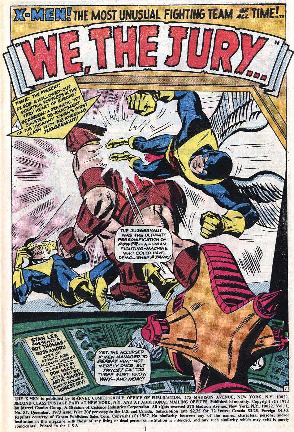 Read online Uncanny X-Men (1963) comic -  Issue #85 - 3