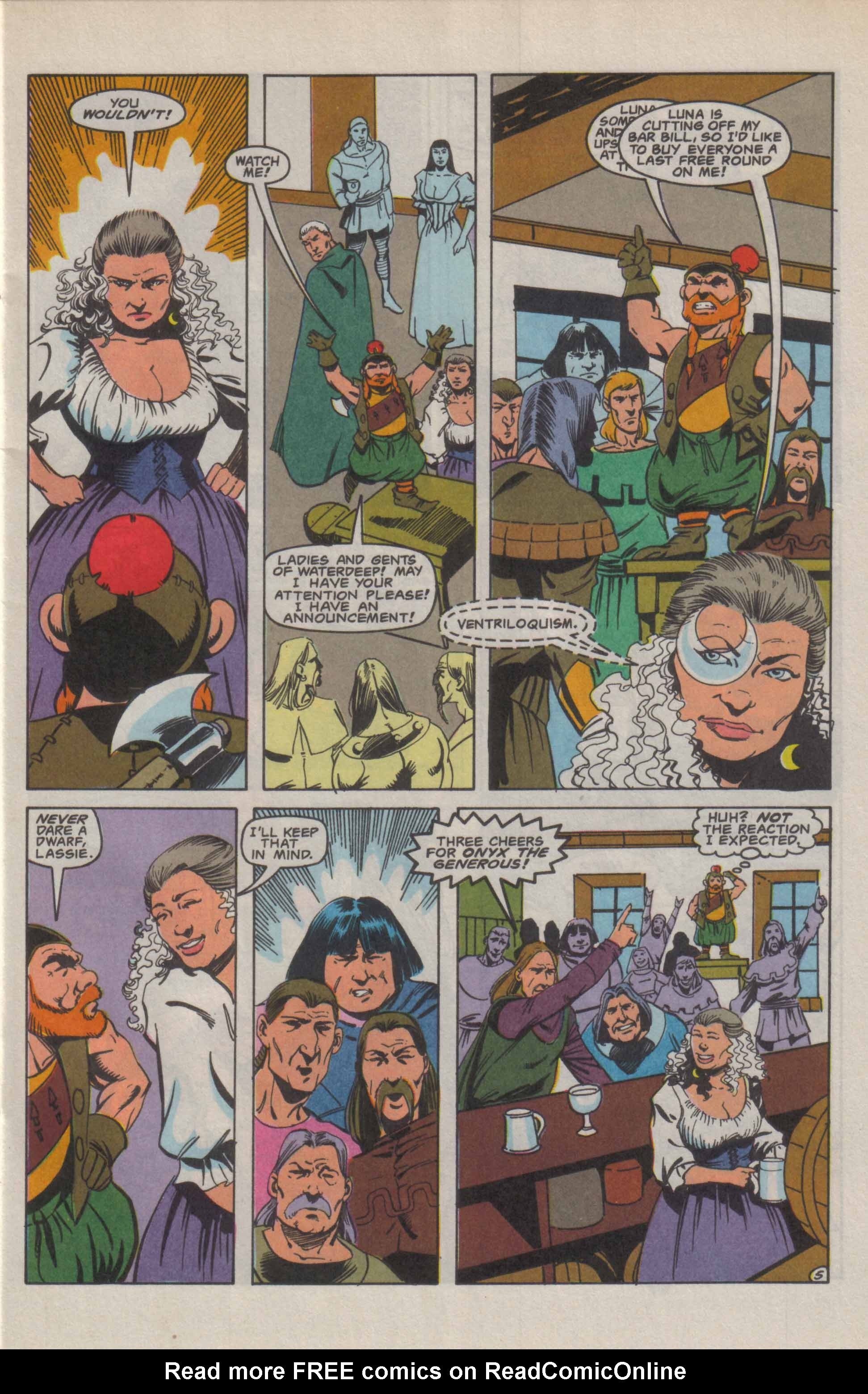 Read online Advanced Dungeons & Dragons comic -  Issue #9 - 6