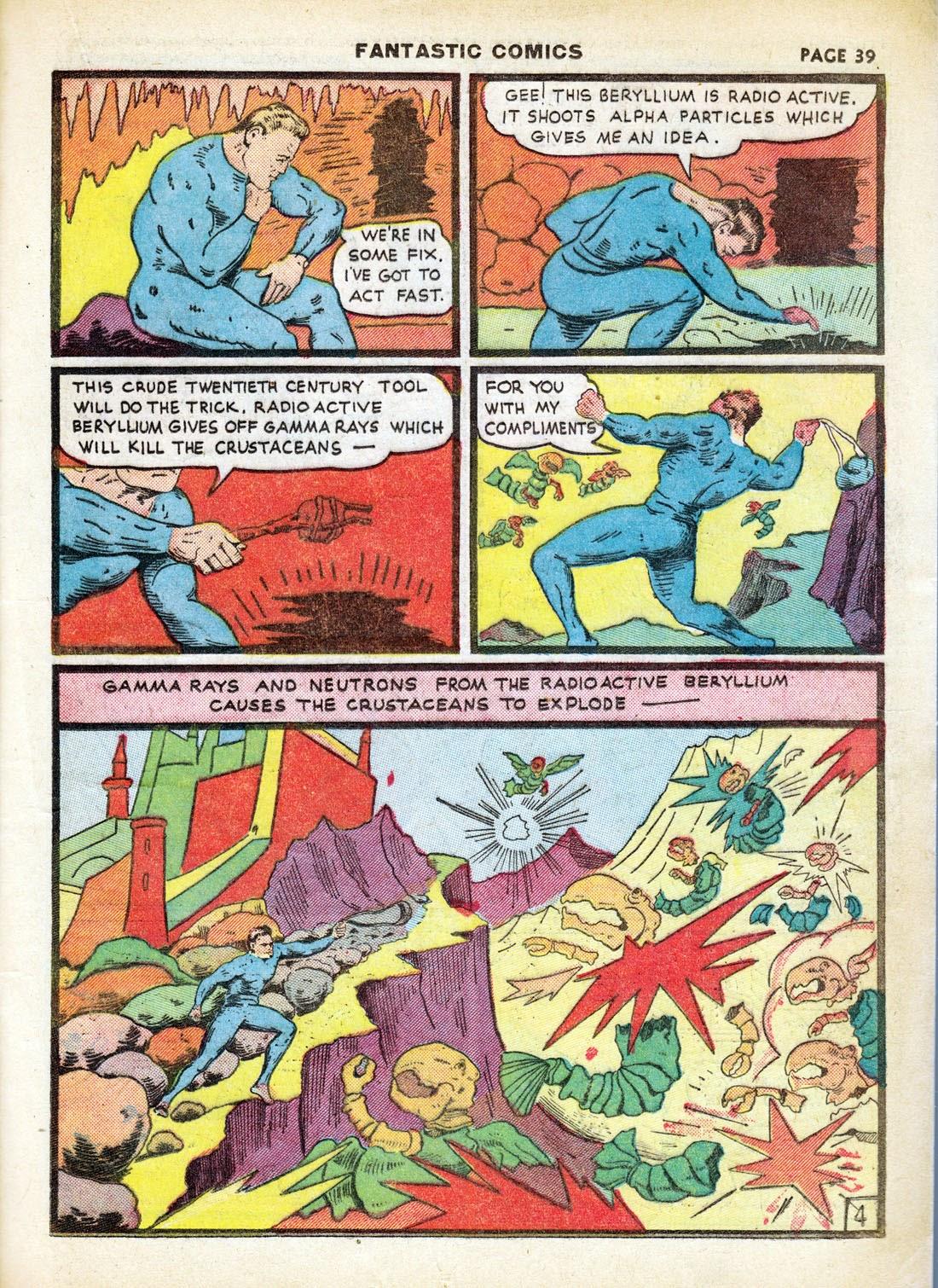 Read online Fantastic Comics comic -  Issue #7 - 41