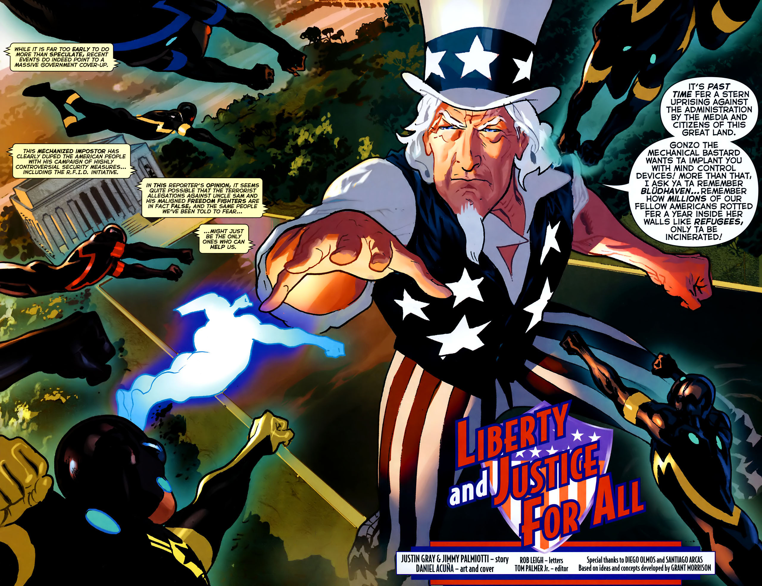 Read online Uncle Sam and the Freedom Fighters (2006) comic -  Issue #8 - 3