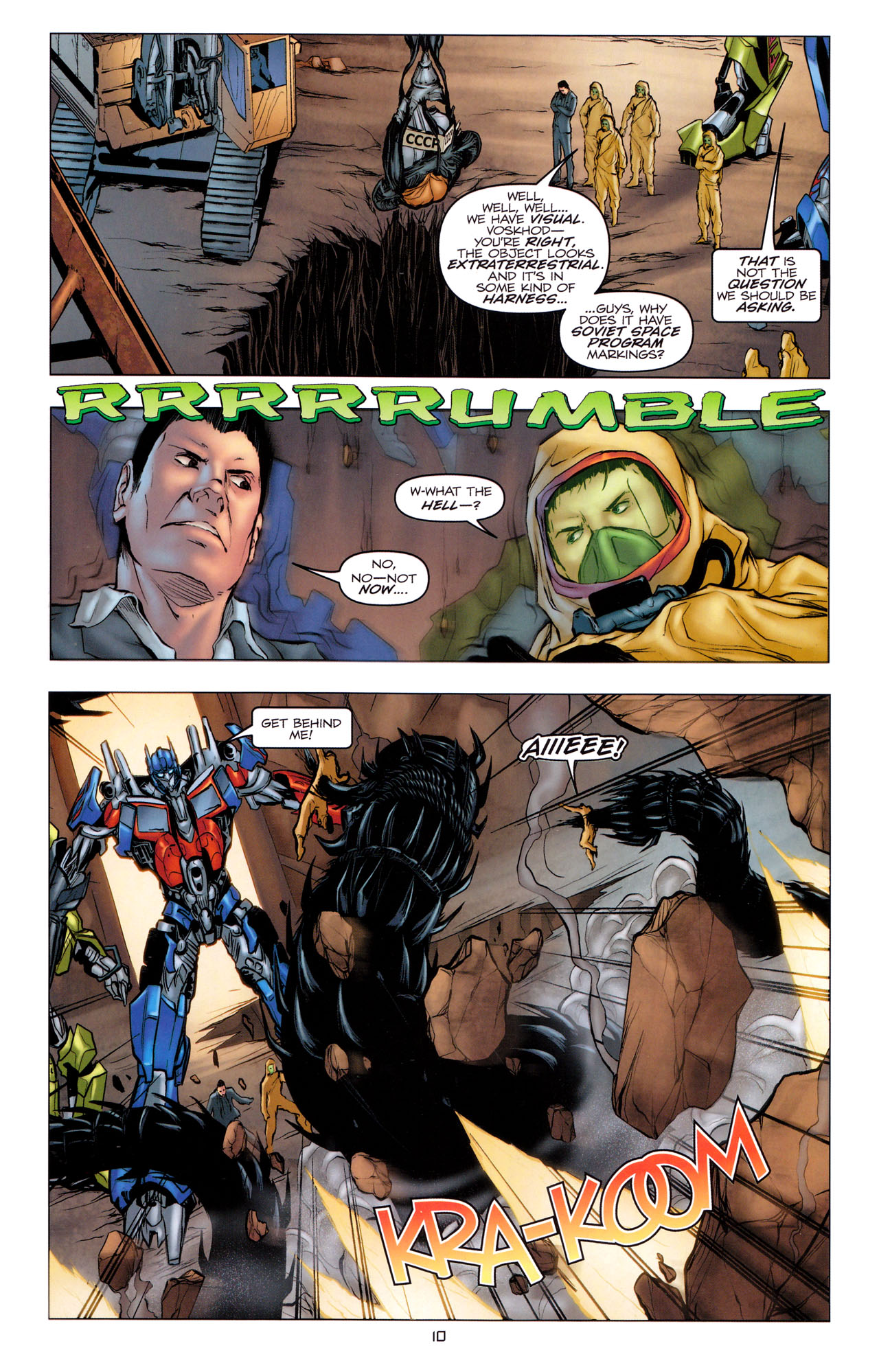 Read online Transformers: Dark of the Moon Movie Adaptation comic -  Issue #1 - 12