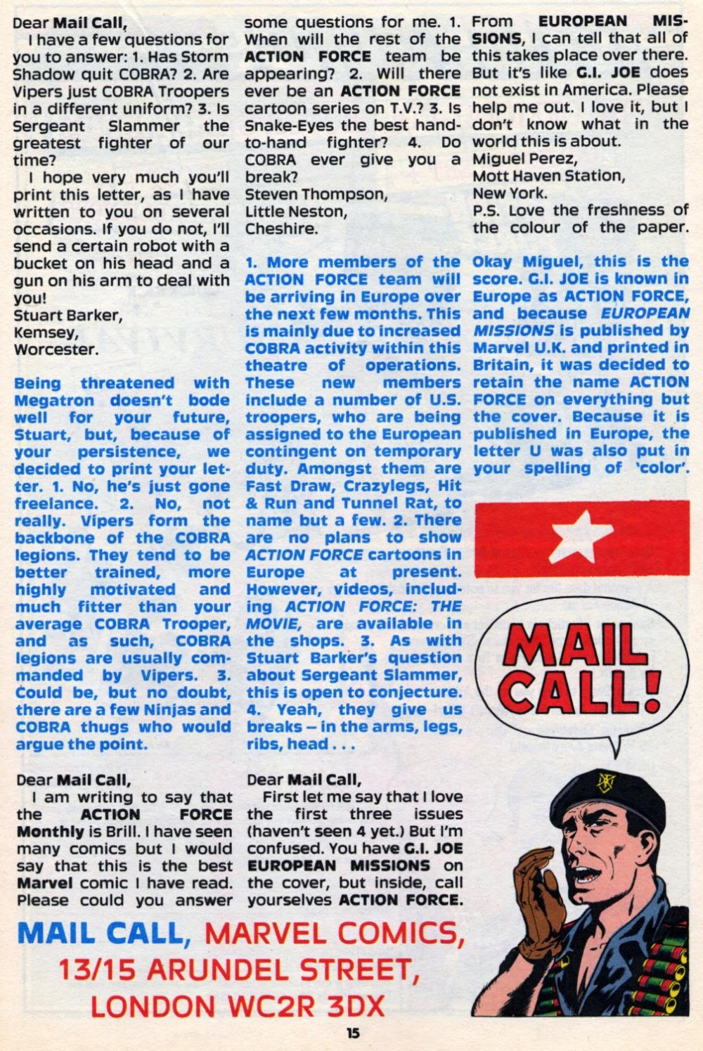 G.I. Joe European Missions issue 10 - Page 15