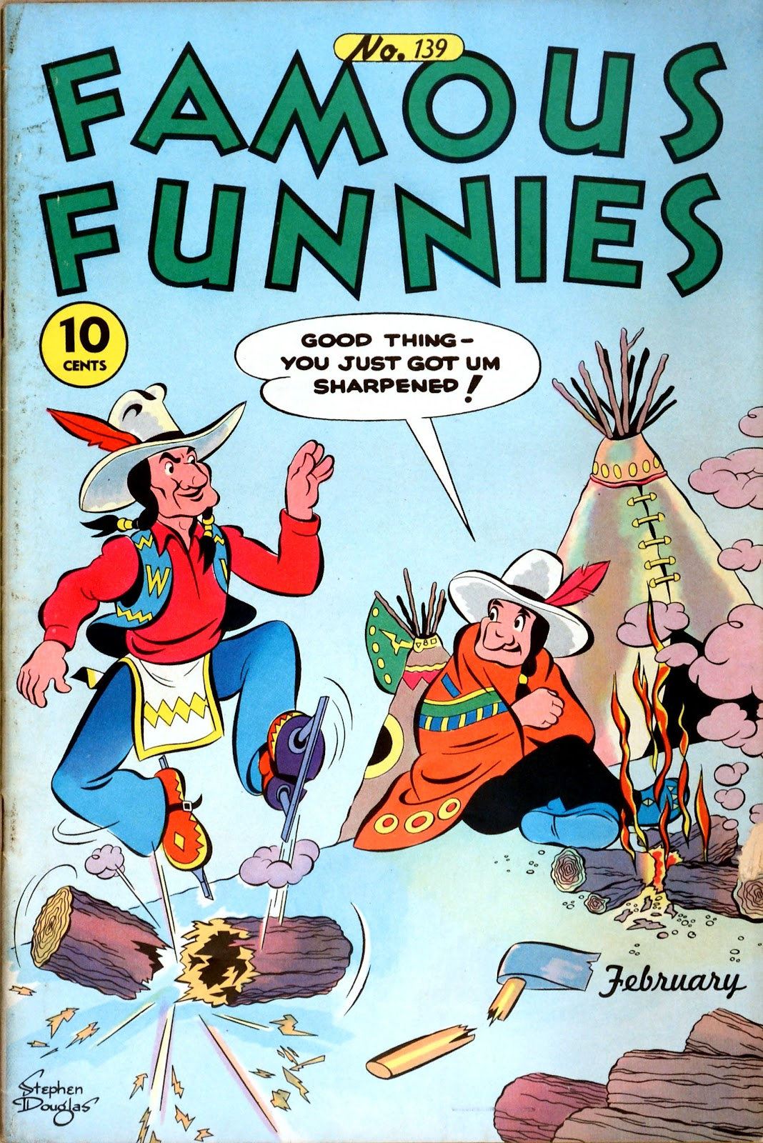Read online Famous Funnies comic -  Issue #139 - 1
