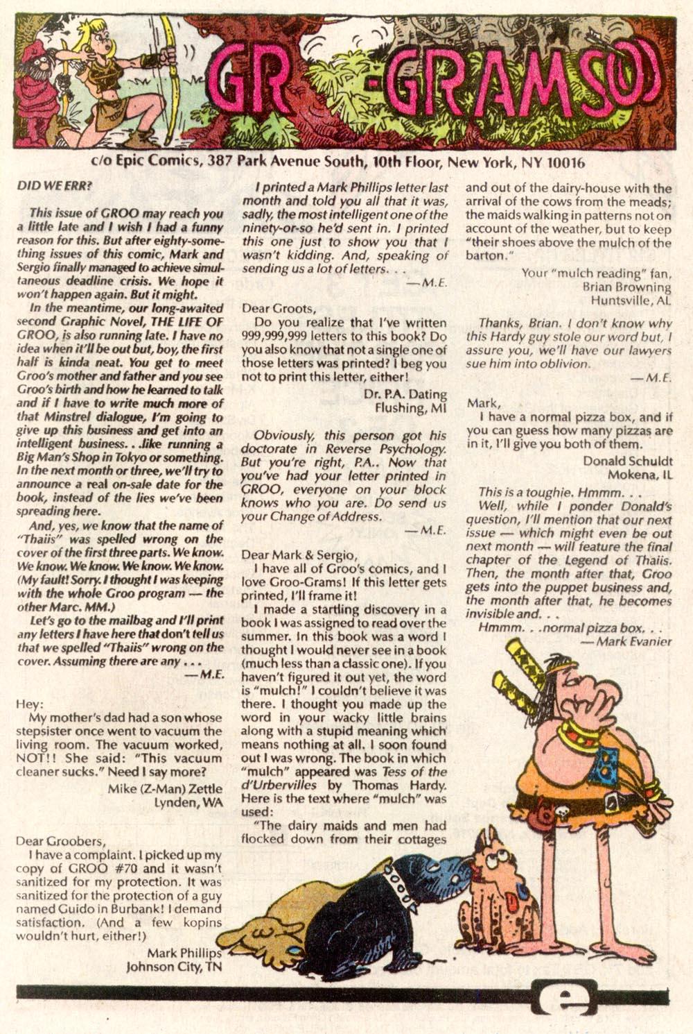 Read online Sergio Aragonés Groo the Wanderer comic -  Issue #82 - 24