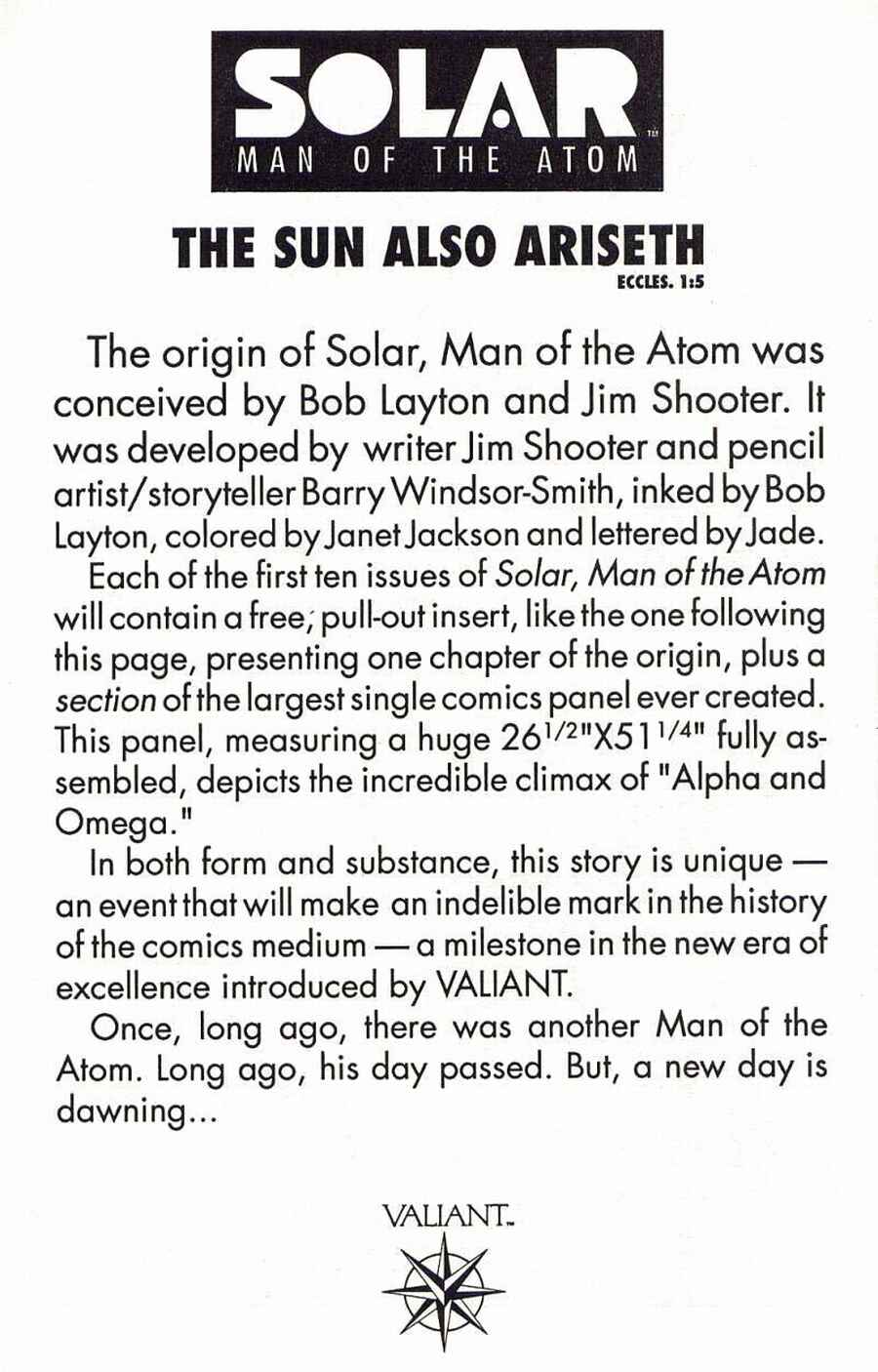 Read online Solar, Man of the Atom comic -  Issue #1 - 15