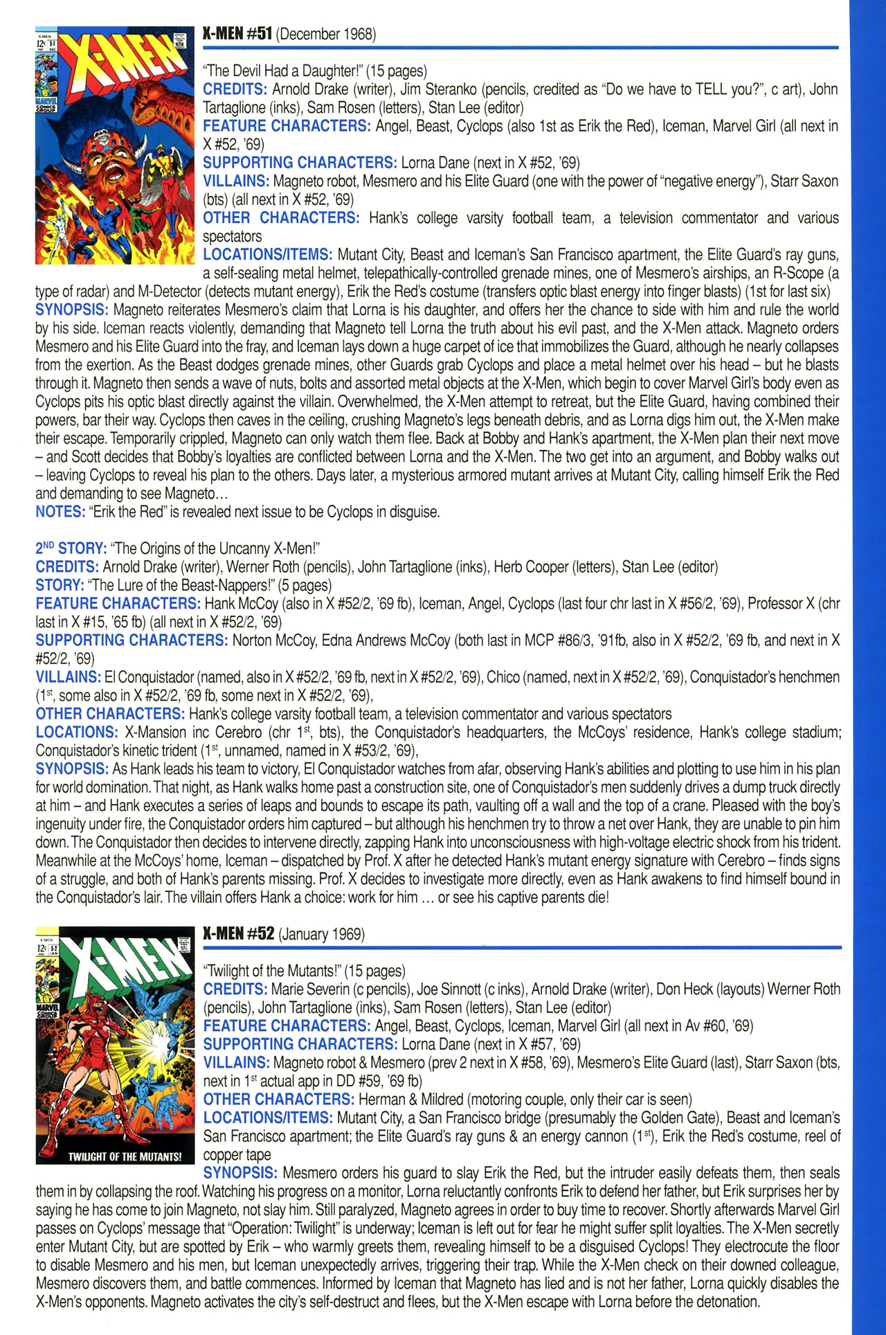 Read online Official Index to the Marvel Universe comic -  Issue #2 - 45