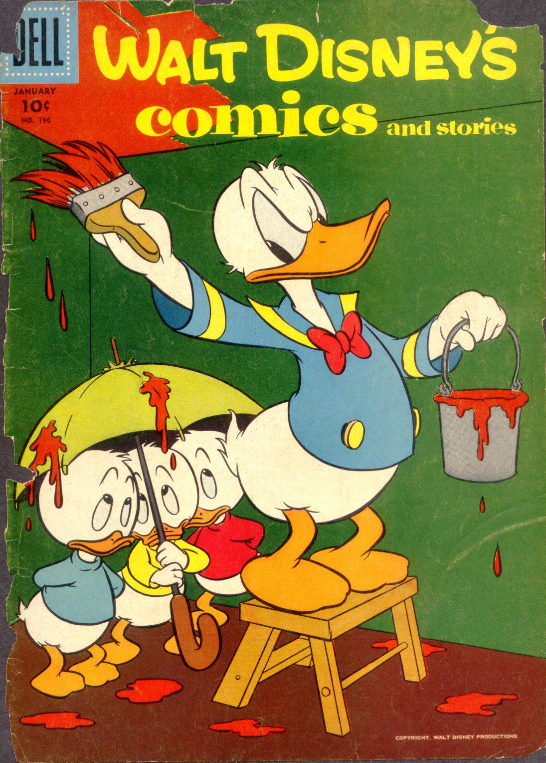 Walt Disneys Comics and Stories 196 Page 1