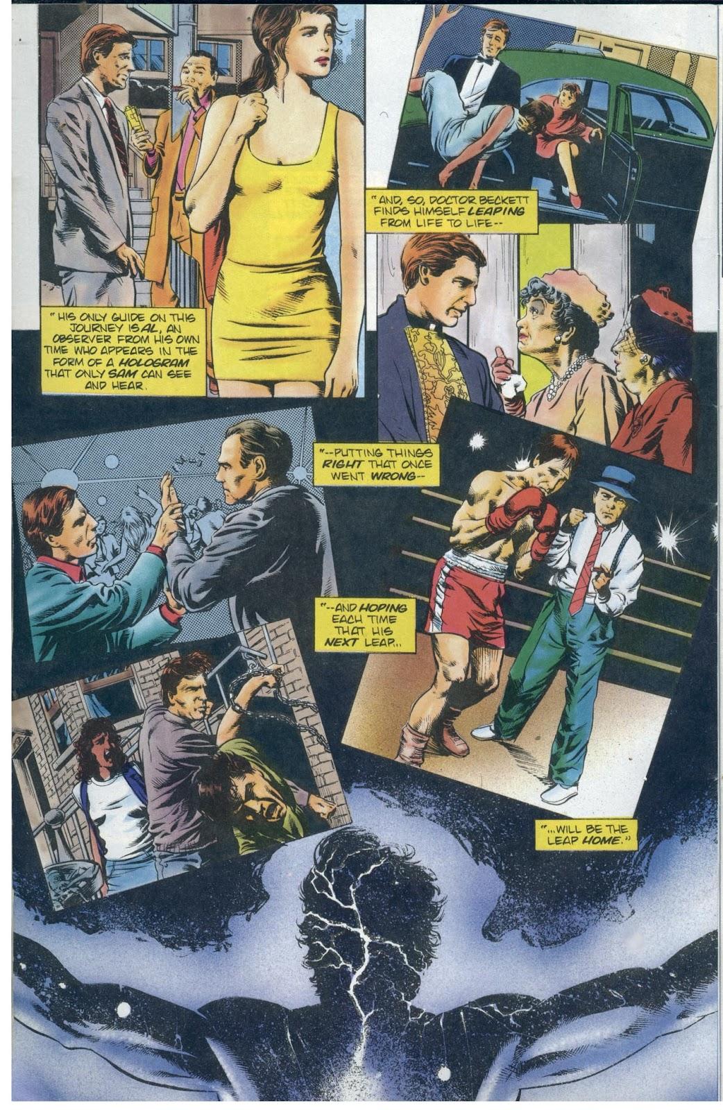 Read online Quantum Leap comic -  Issue #13 - 14