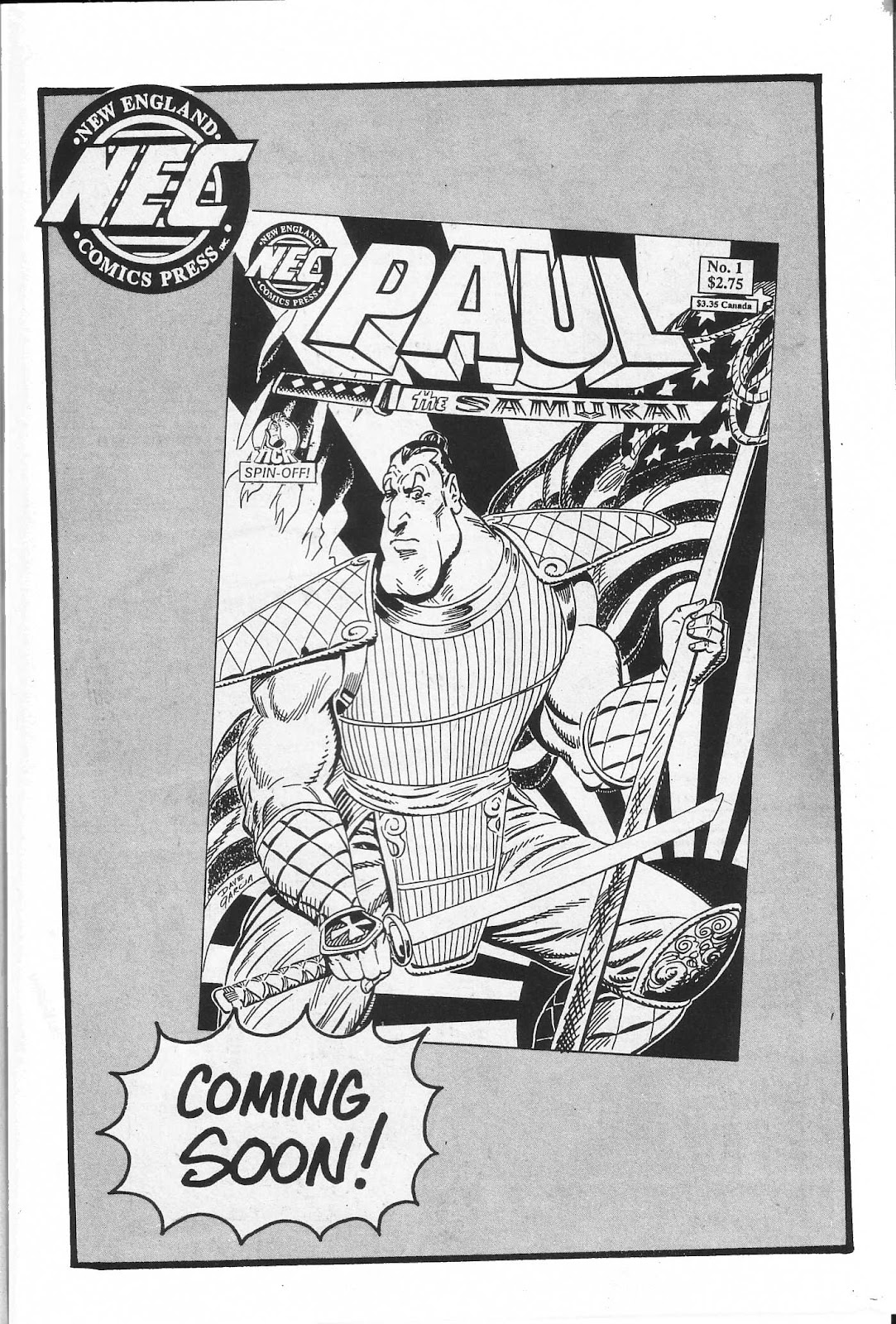 Read online Paul the Samurai (1991) comic -  Issue # TPB - 97
