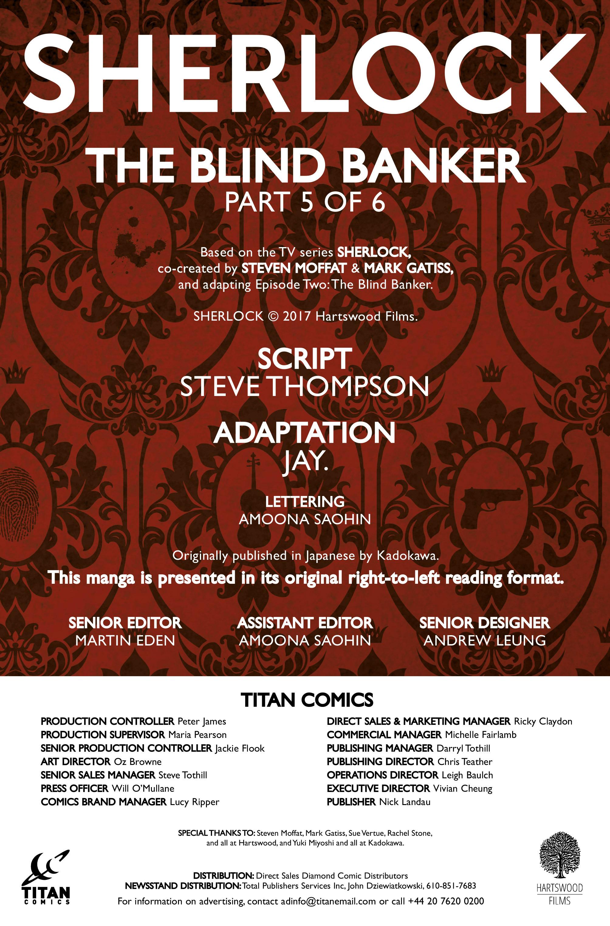 Read online Sherlock: The Blind Banker comic -  Issue #5 - 4