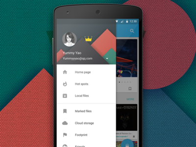 Navigation Drawer for Android Application