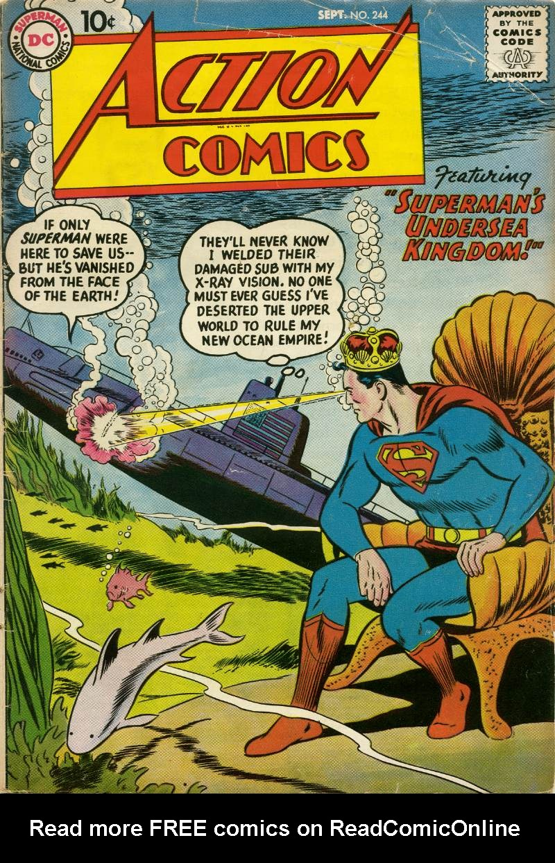 Read online Action Comics (1938) comic -  Issue #244 - 1