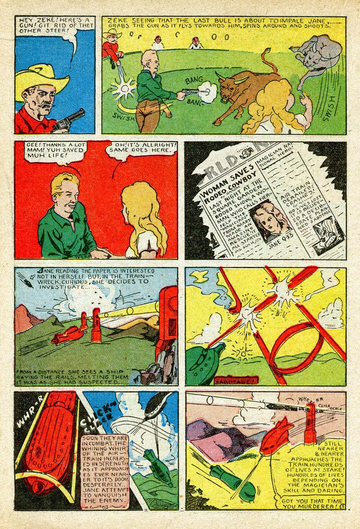 Read online Amazing Man Comics comic -  Issue #8 - 34