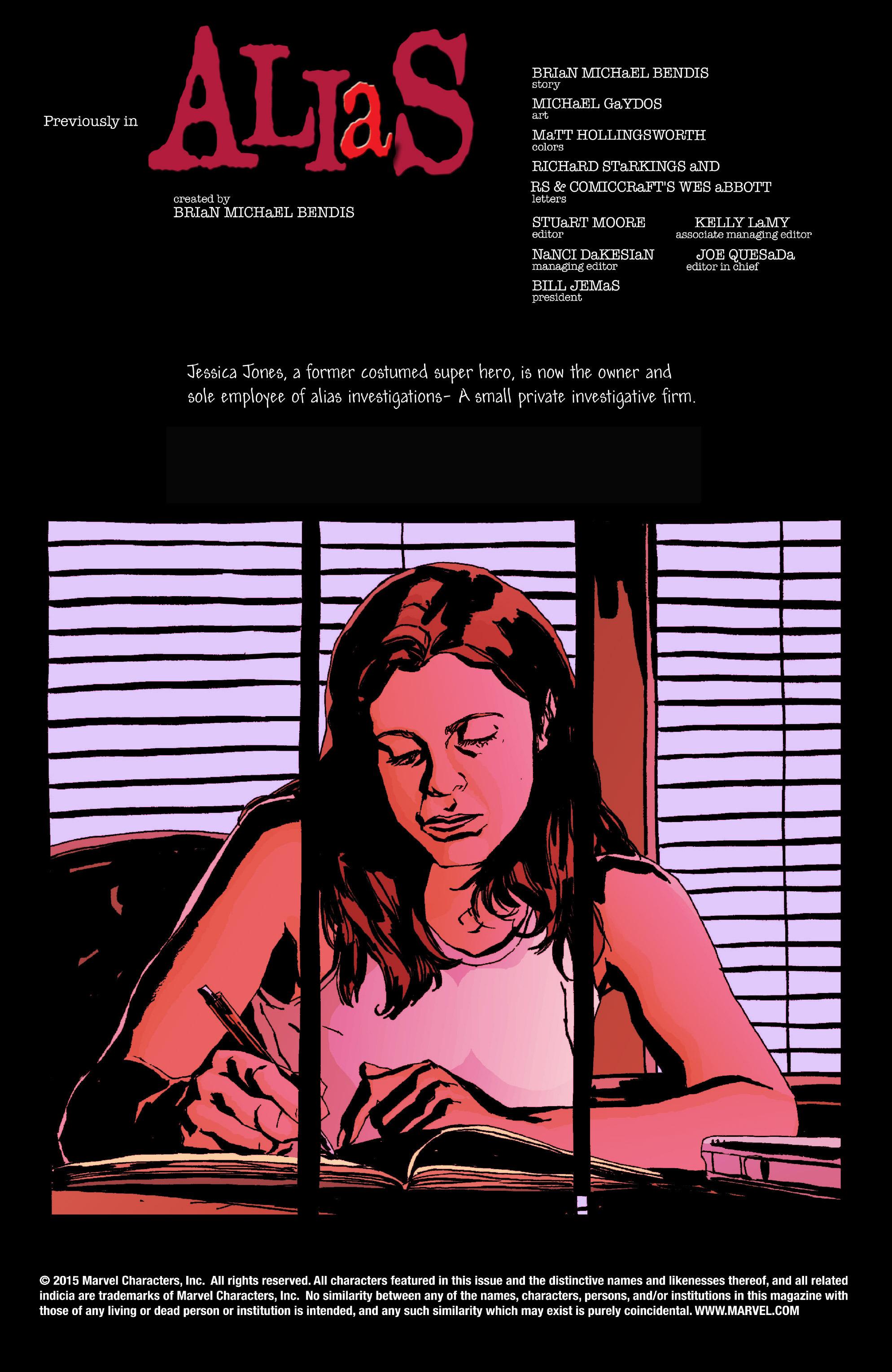 Read online Alias comic -  Issue #6 - 2
