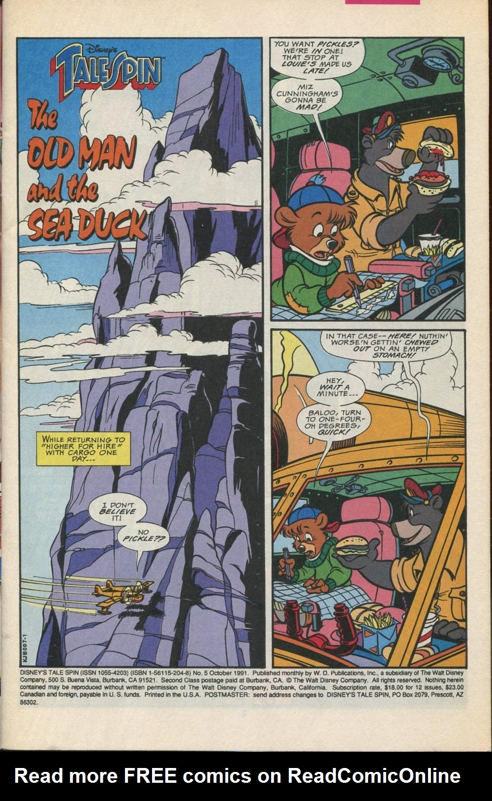 Read online Disney's Tale Spin comic -  Issue #5 - 2