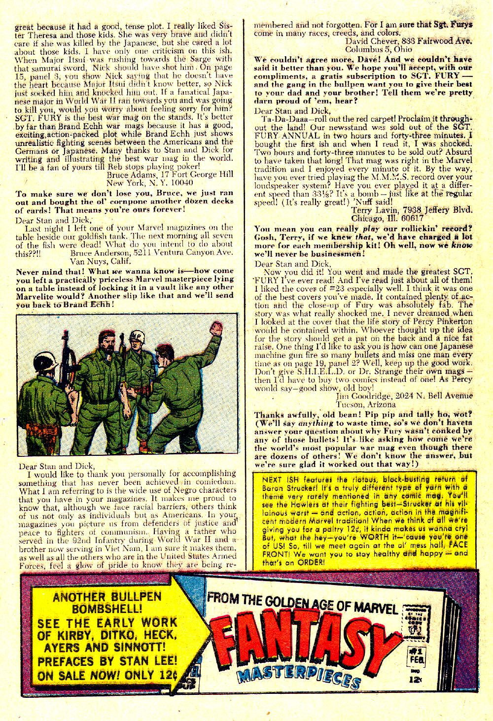 Read online Sgt. Fury comic -  Issue #27 - 33