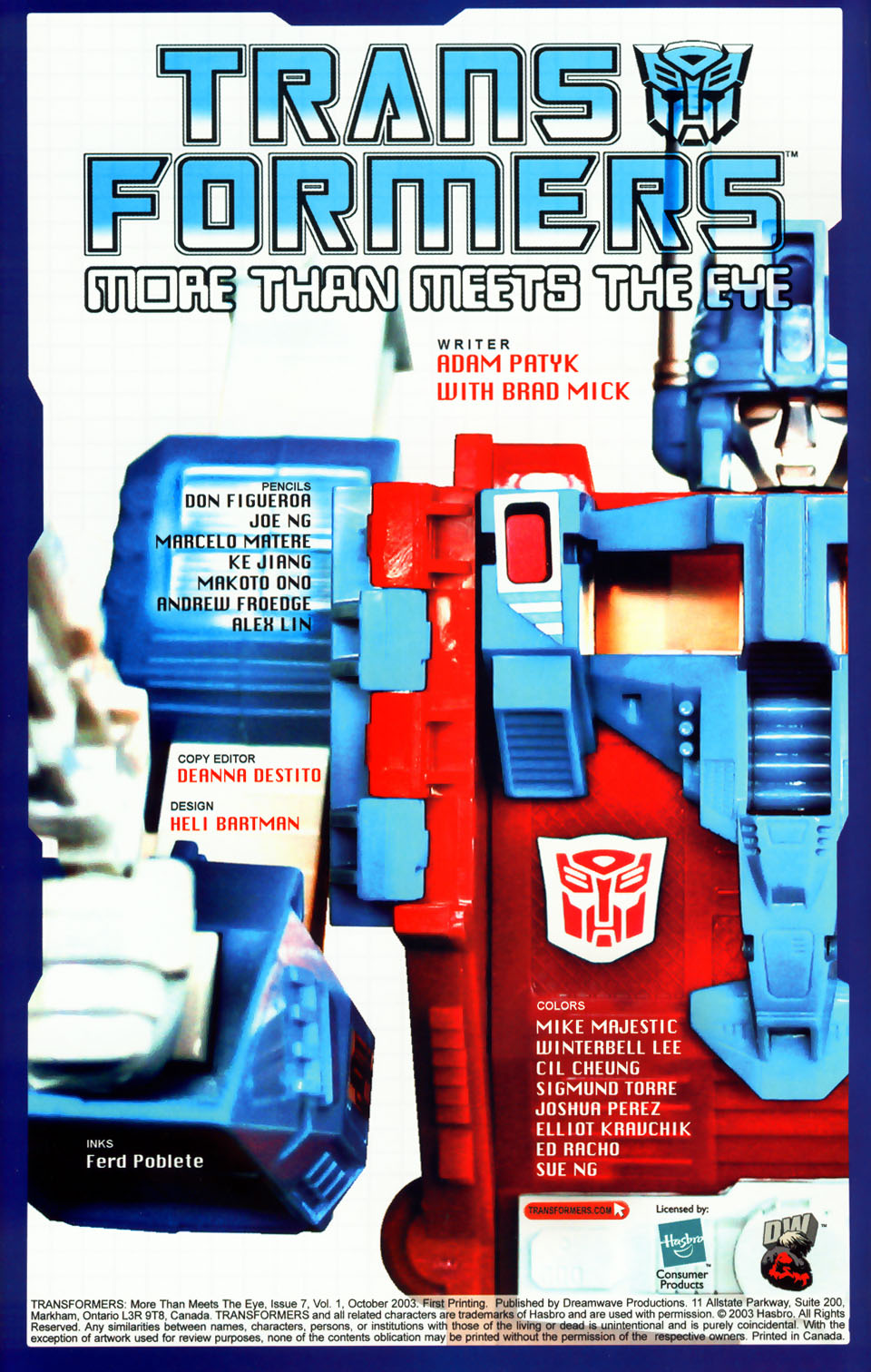 Read online Transformers: More than Meets the Eye comic -  Issue #7 - 2