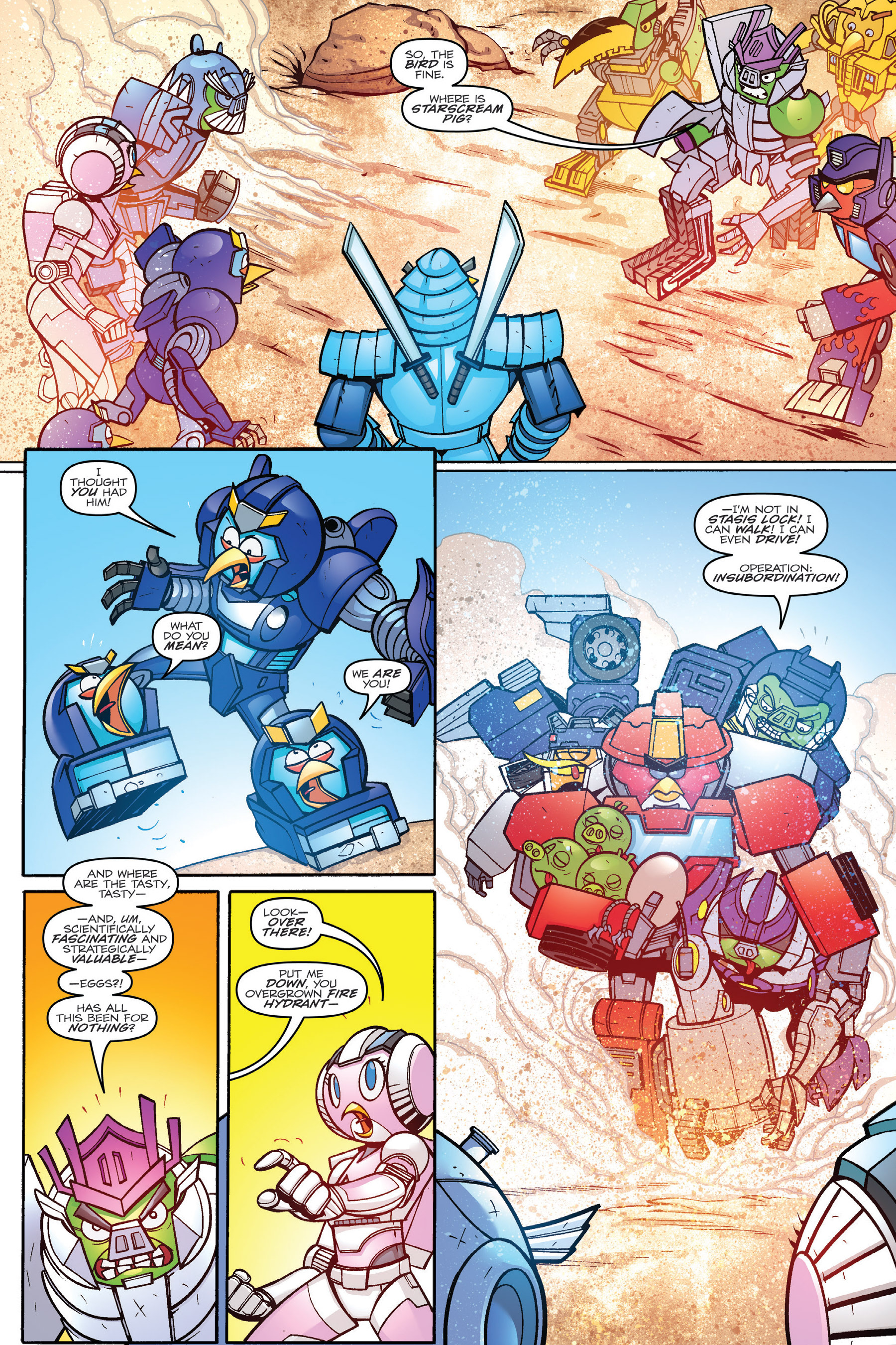 Read online Angry Birds Transformers: Age of Eggstinction comic -  Issue # Full - 67