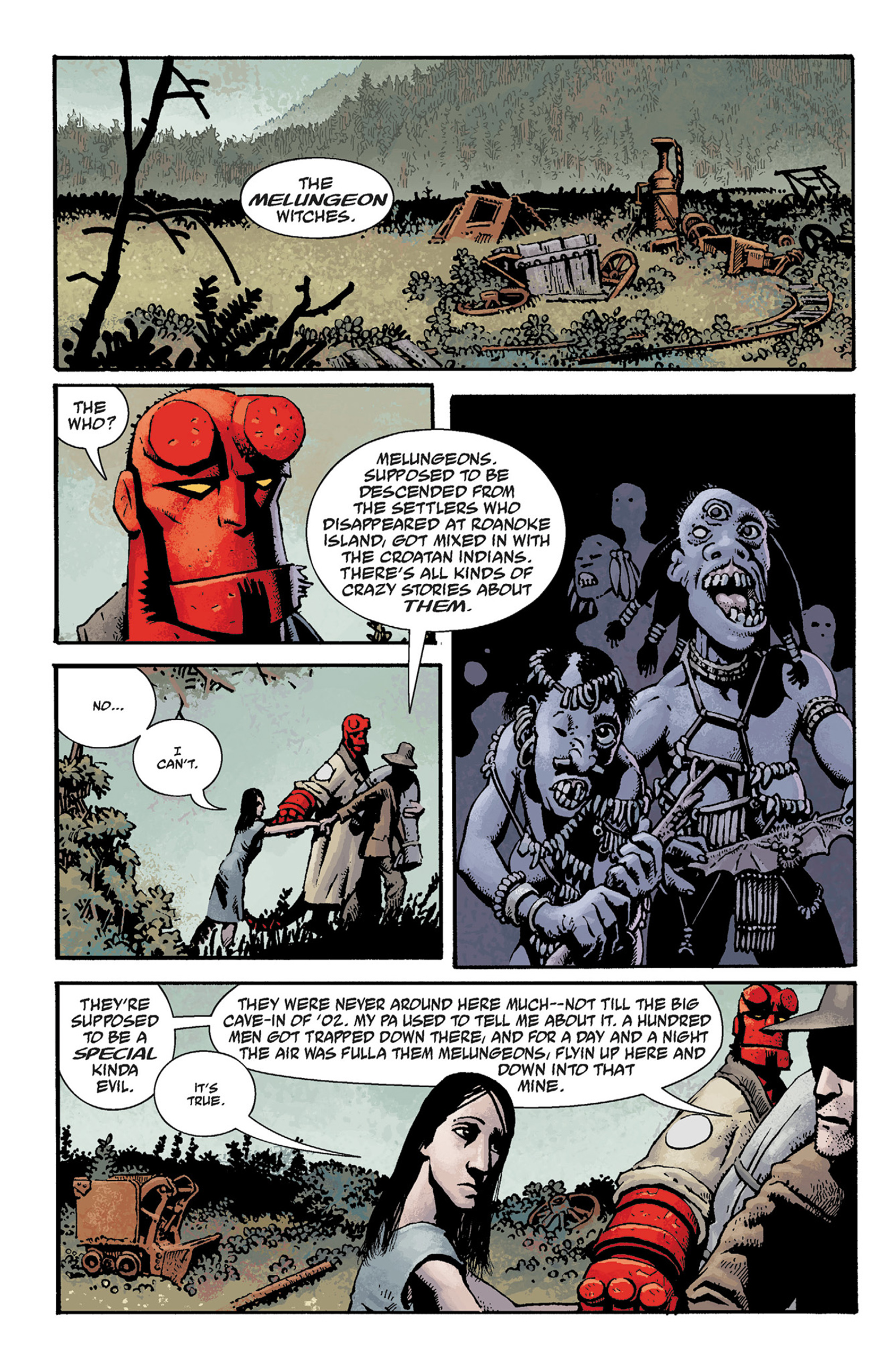 Read online Hellboy: The Crooked Man and Others comic -  Issue # TPB - 38
