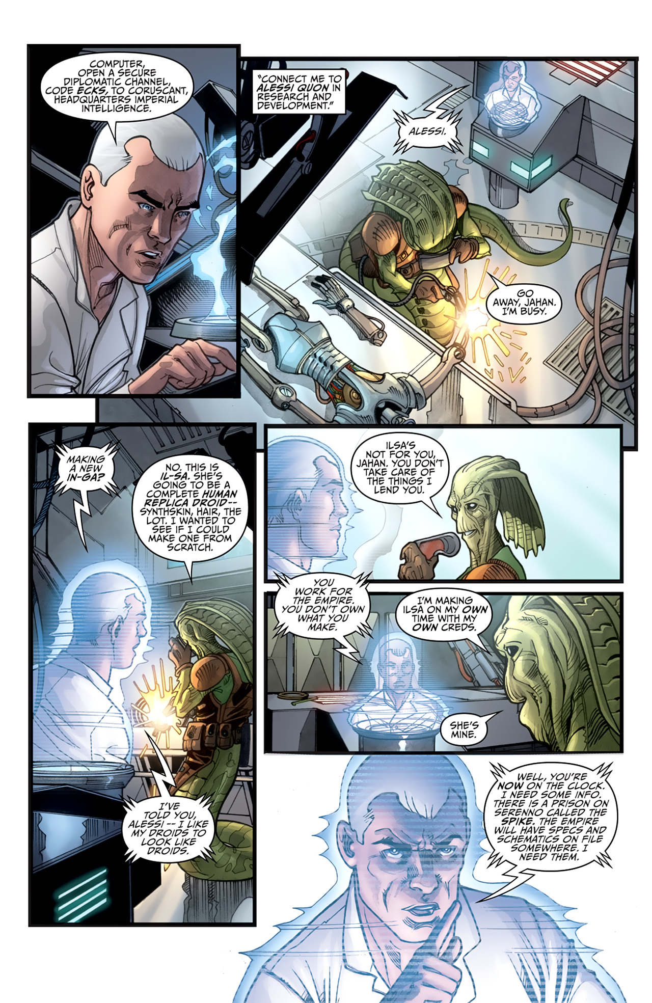 Read online Star Wars: Agent Of The Empire - Hard Targets comic -  Issue #3 - 12