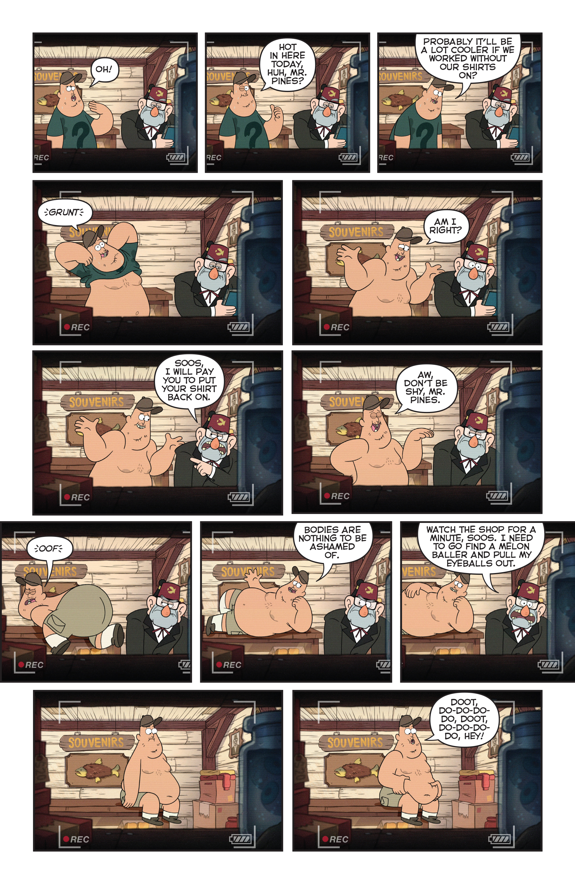 Read online Disney Gravity Falls Shorts Cinestory Comic comic -  Issue #2 - 5