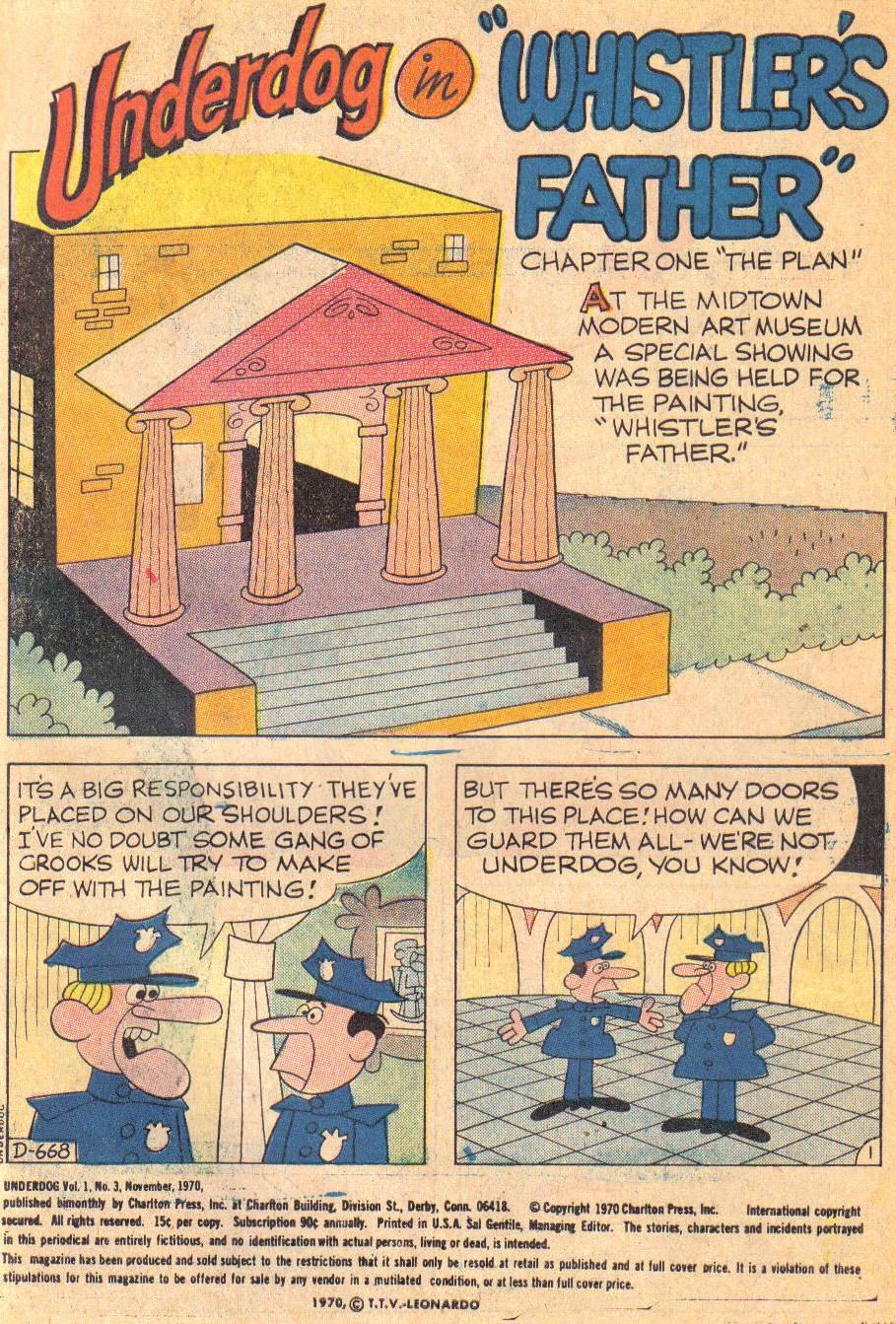 Underdog (1970) issue 3 - Page 3