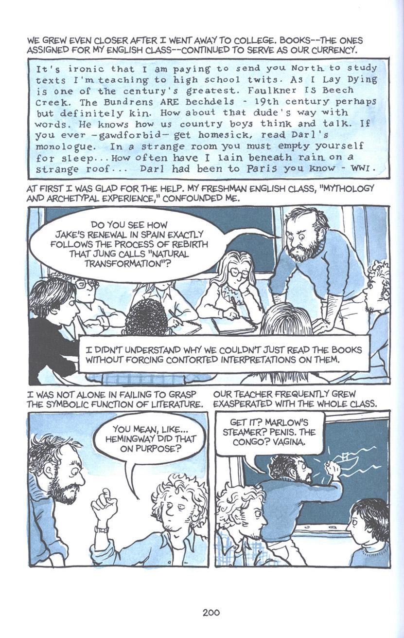 Read online Fun Home: A Family Tragicomic comic -  Issue # TPB - 206