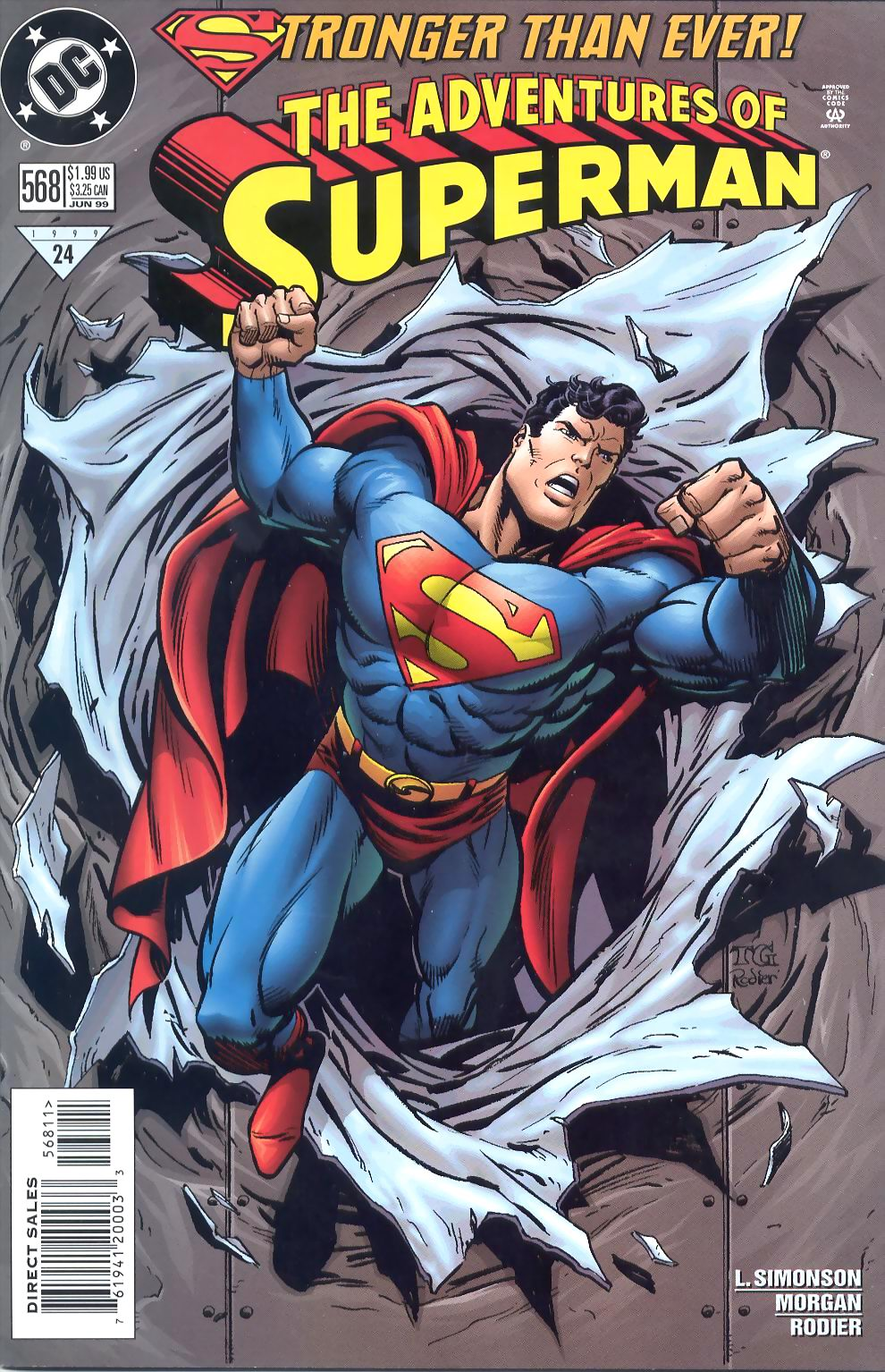 Read online Adventures of Superman (1987) comic -  Issue #568 - 1