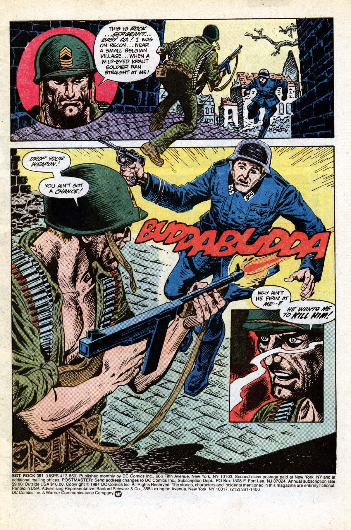 Read online Sgt. Rock comic -  Issue #391 - 2